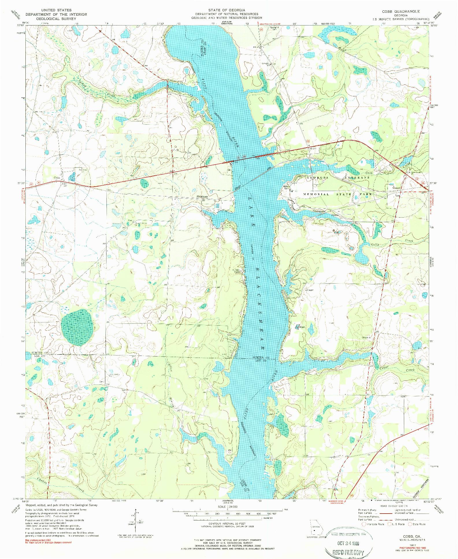 USGS 1:24000-SCALE QUADRANGLE FOR COBB, GA 1977