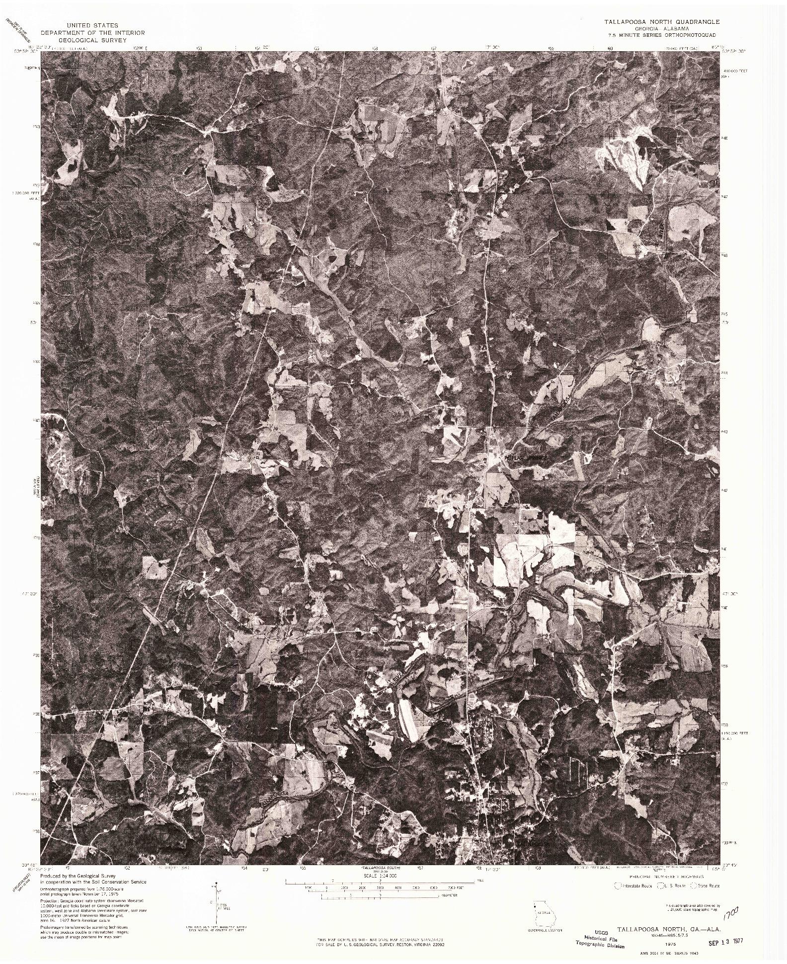 USGS 1:24000-SCALE QUADRANGLE FOR TALLAPOOSA NORTH, GA 1975