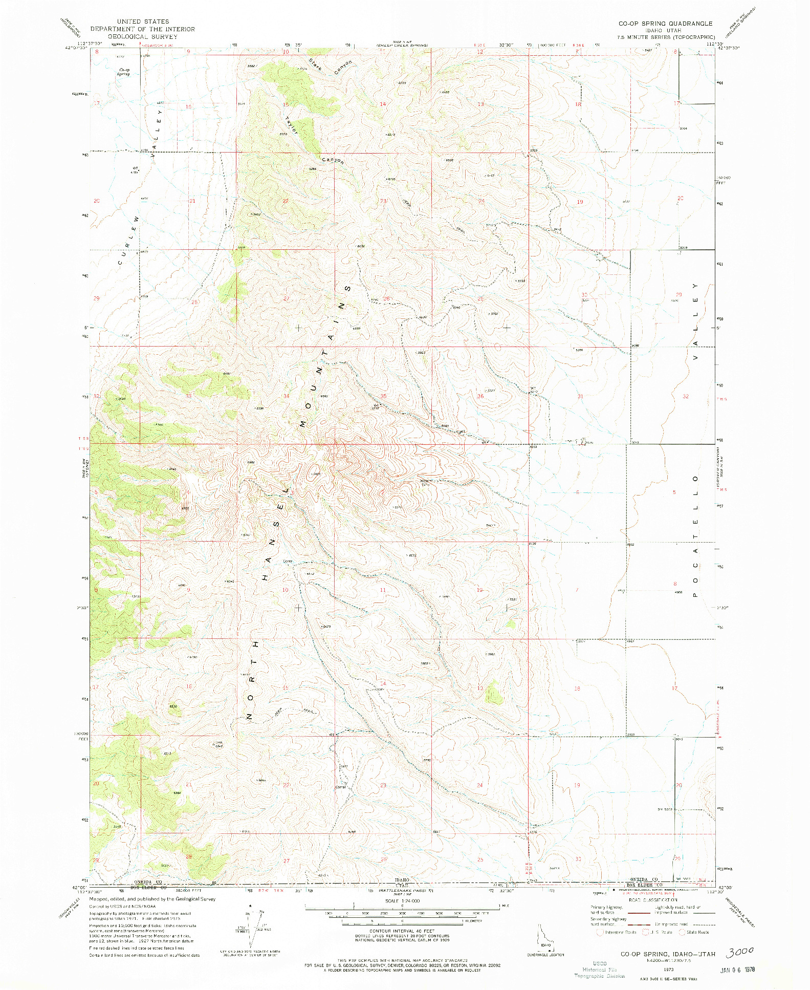 USGS 1:24000-SCALE QUADRANGLE FOR CO-OP SPRING, ID 1973