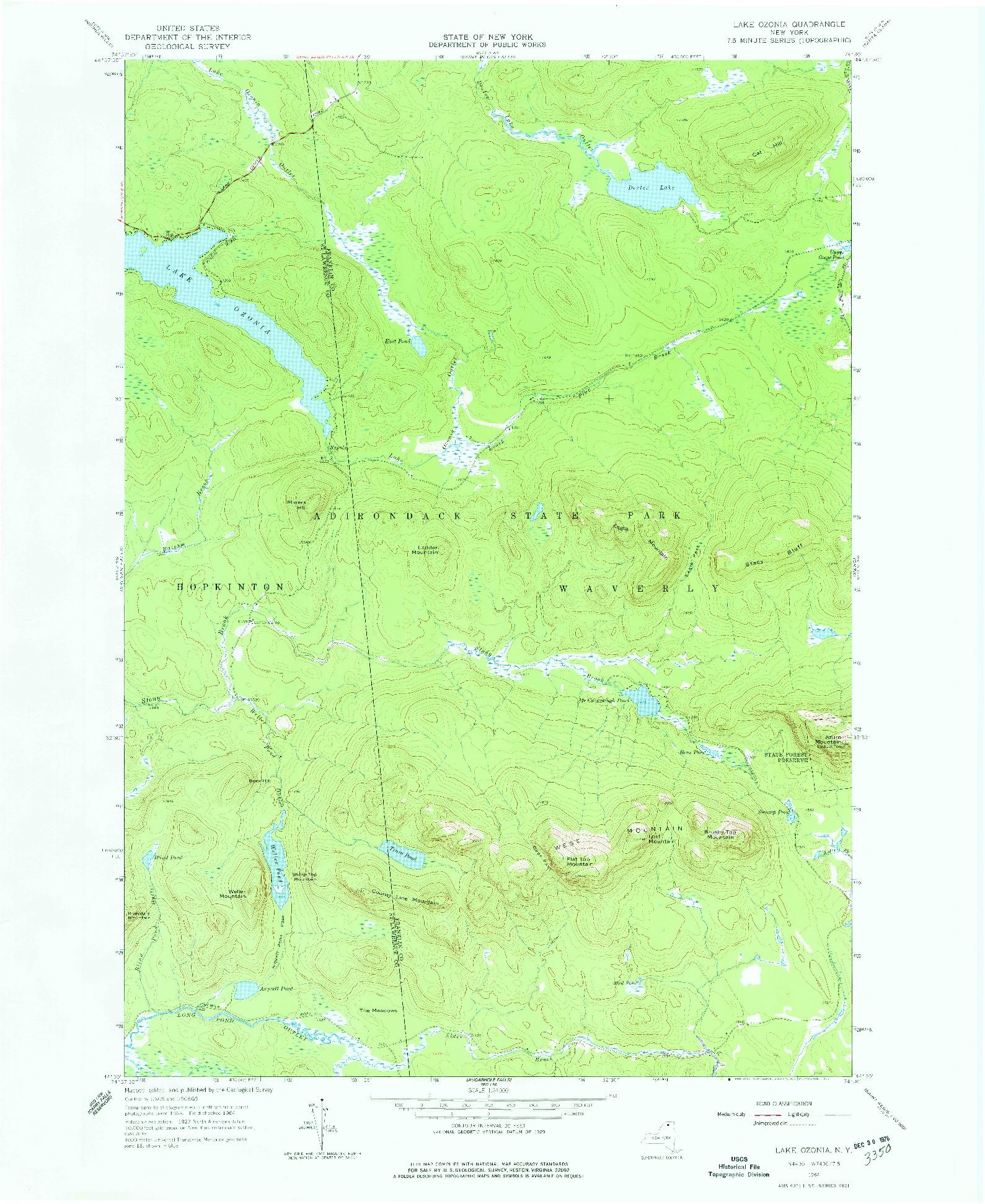 USGS 1:24000-SCALE QUADRANGLE FOR LAKE OZONIA, NY 1964