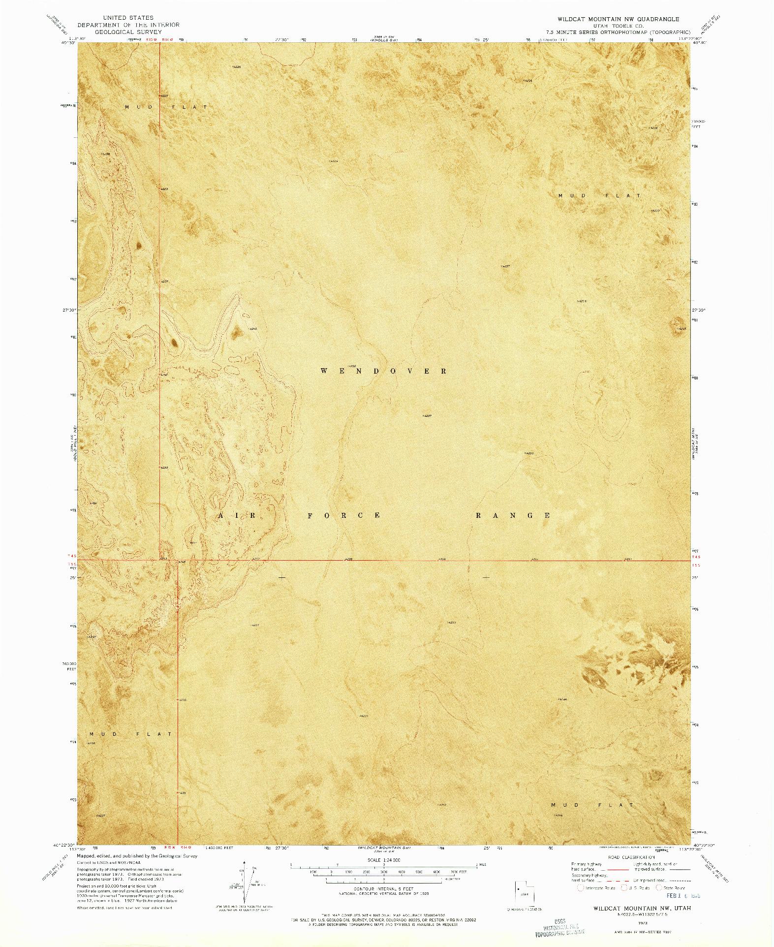 USGS 1:24000-SCALE QUADRANGLE FOR WILDCAT MOUNTAIN NW, UT 1973