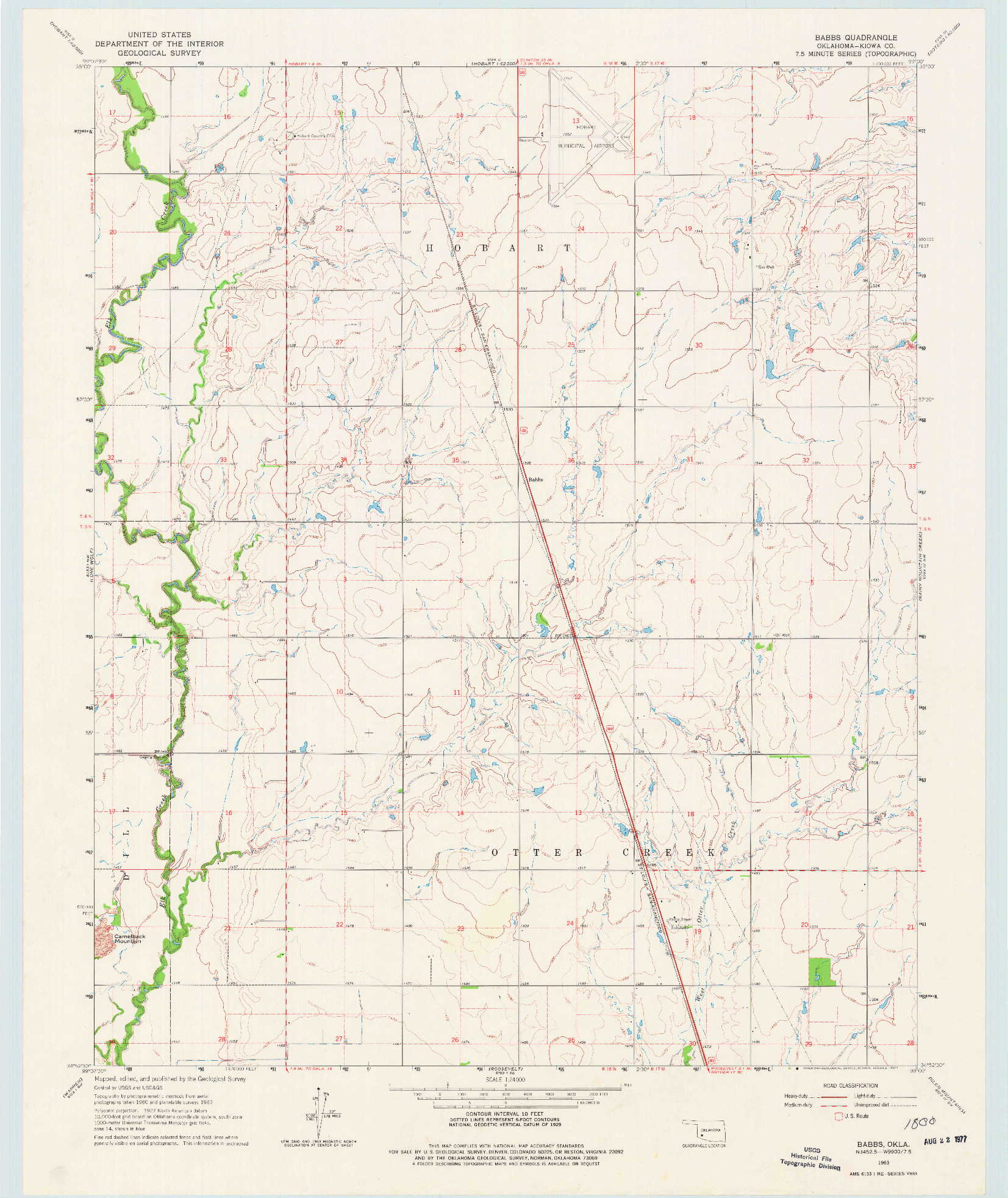 USGS 1:24000-SCALE QUADRANGLE FOR BABBS, OK 1963