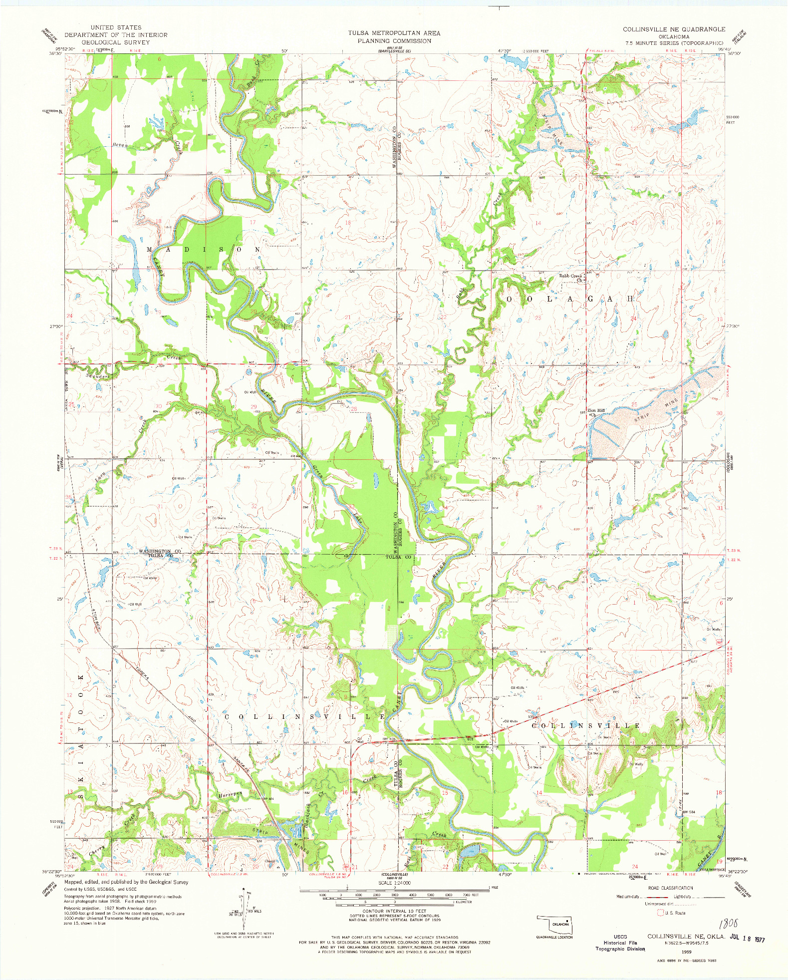 USGS 1:24000-SCALE QUADRANGLE FOR COLLINSVILLE NE, OK 1959