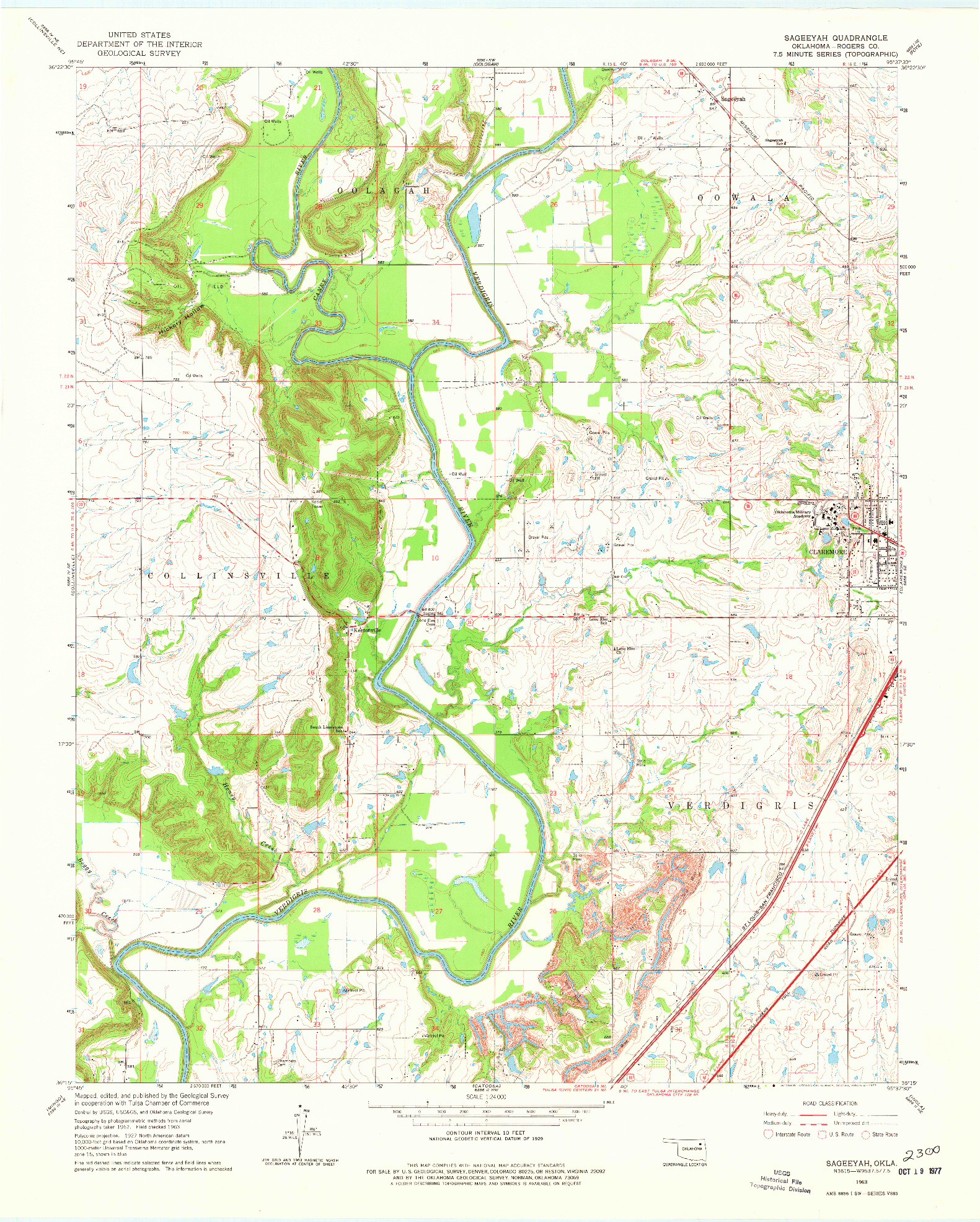 USGS 1:24000-SCALE QUADRANGLE FOR SAGEEYAH, OK 1963