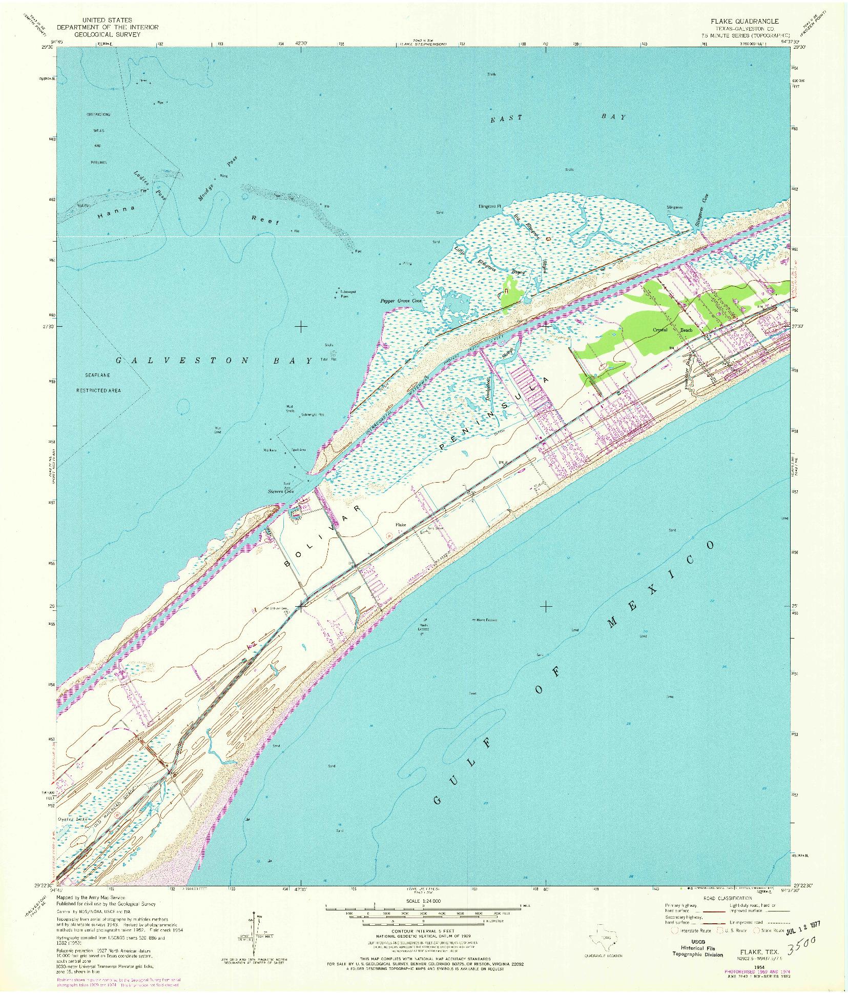 USGS 1:24000-SCALE QUADRANGLE FOR FLAKE, TX 1954