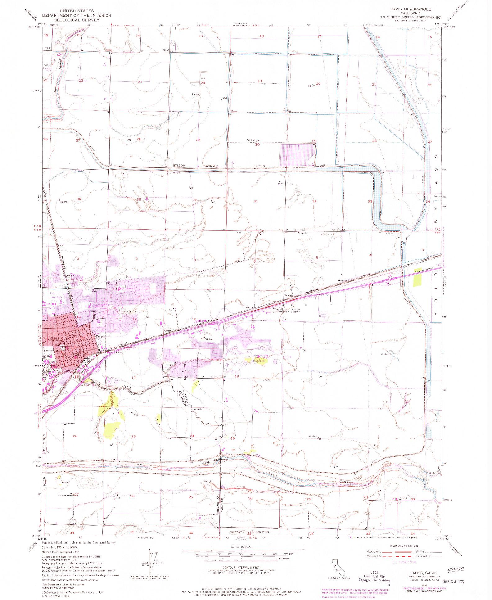 USGS 1:24000-SCALE QUADRANGLE FOR DAVIS, CA 1975