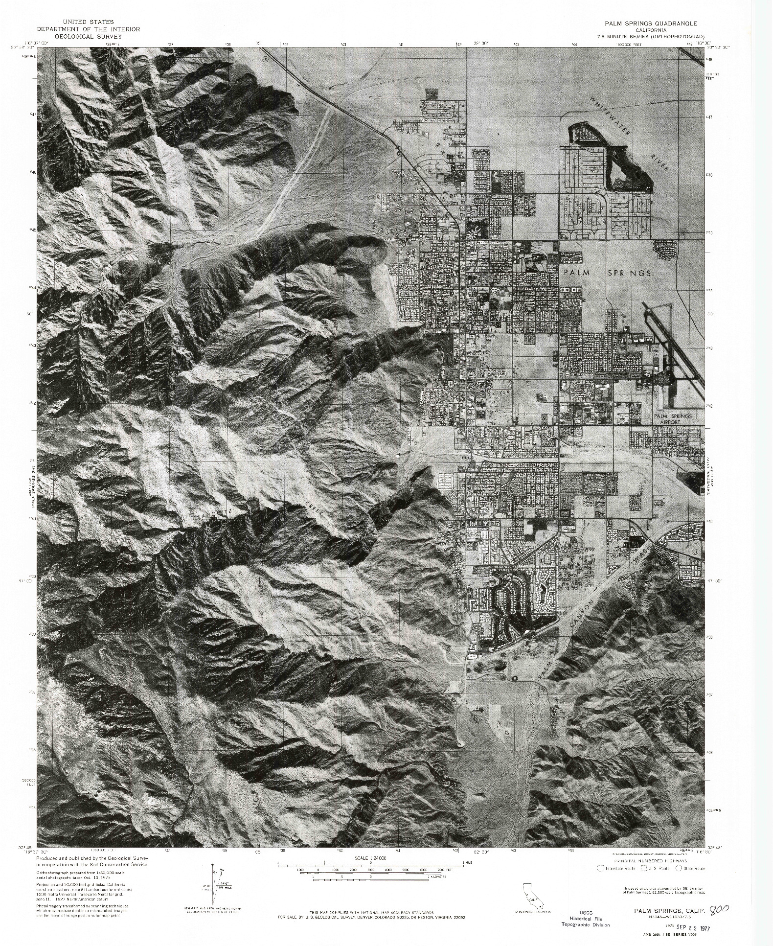 USGS 1:24000-SCALE QUADRANGLE FOR PALM SPRINGS, CA 1975