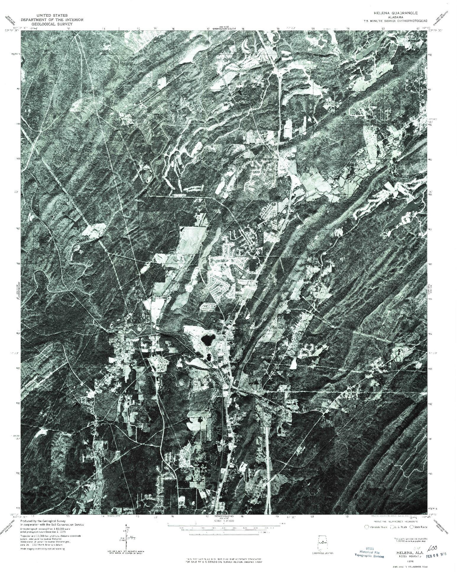 USGS 1:24000-SCALE QUADRANGLE FOR HELENA, AL 1975