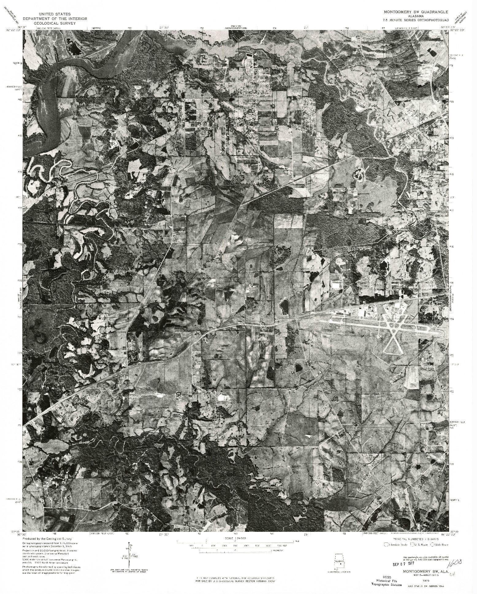 USGS 1:24000-SCALE QUADRANGLE FOR MONTGOMERY SW, AL 1975