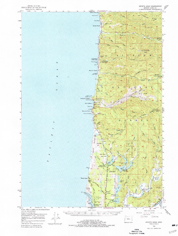 USGS 1:62500-SCALE QUADRANGLE FOR HECETA HEAD, OR 1956