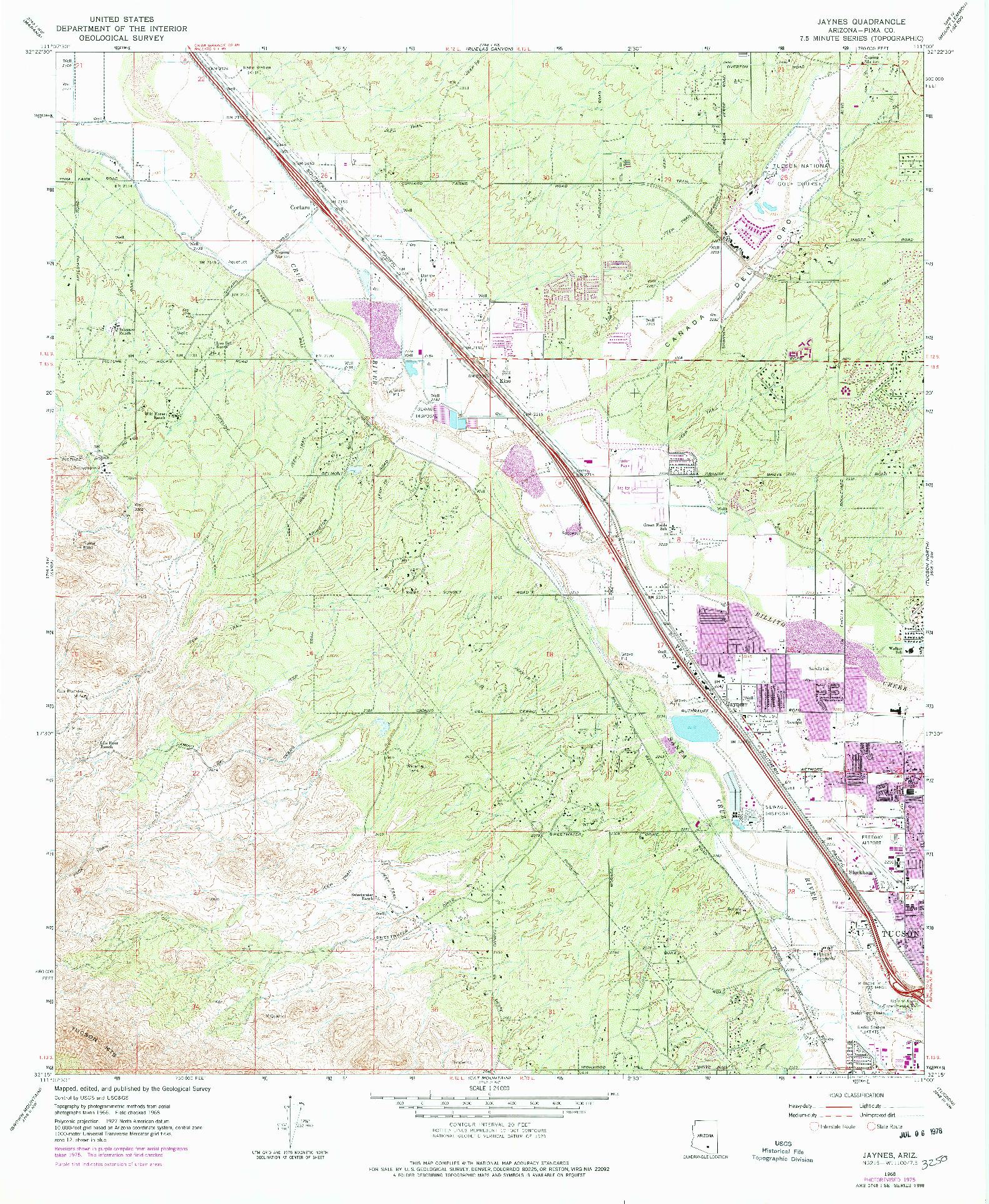 USGS 1:24000-SCALE QUADRANGLE FOR JAYNES, AZ 1968