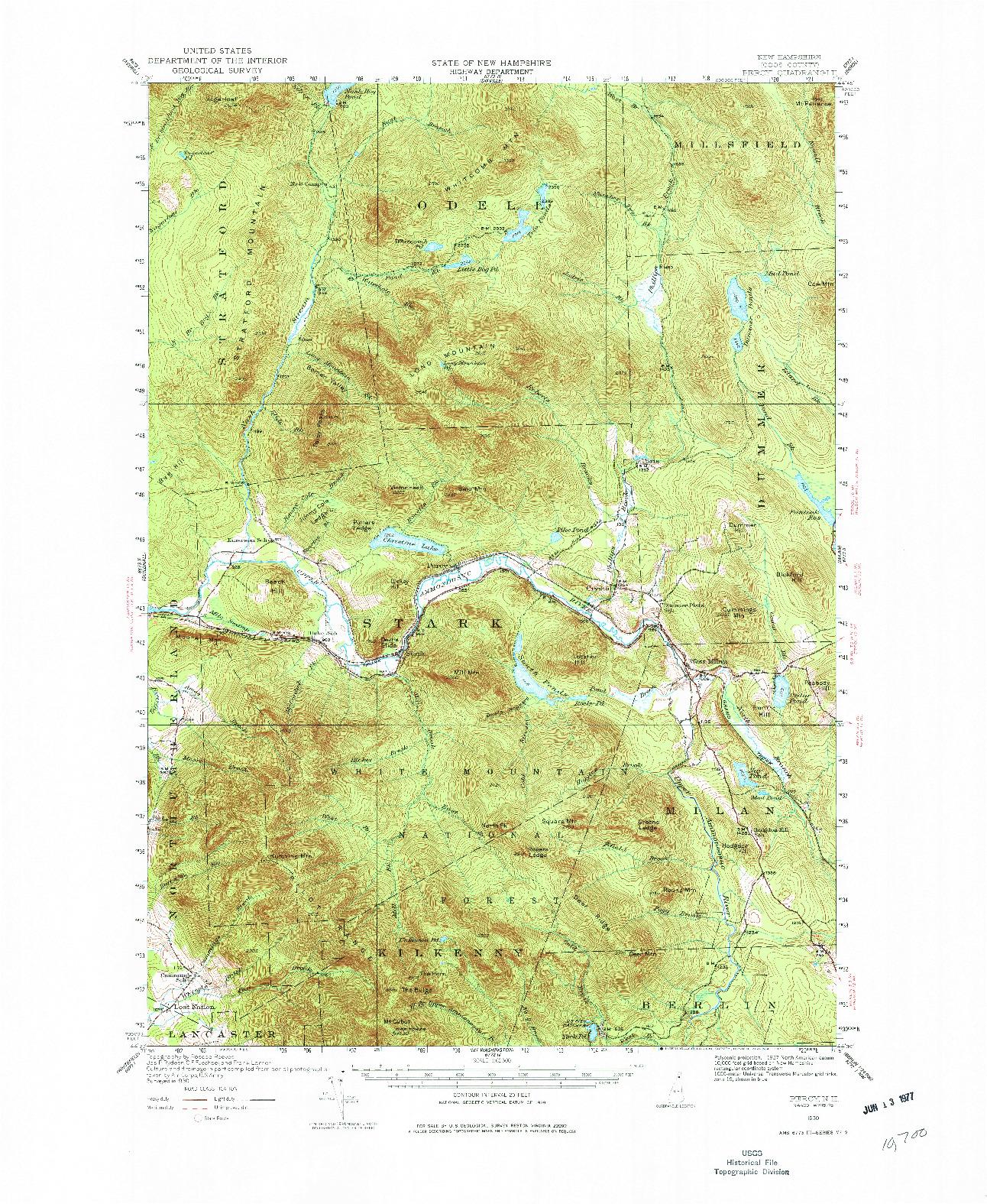 USGS 1:62500-SCALE QUADRANGLE FOR PERCY, NH 1930