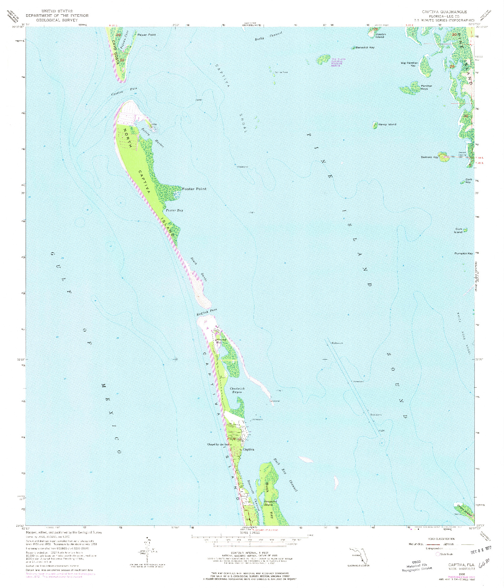 USGS 1:24000-SCALE QUADRANGLE FOR CAPTIVA, FL 1958