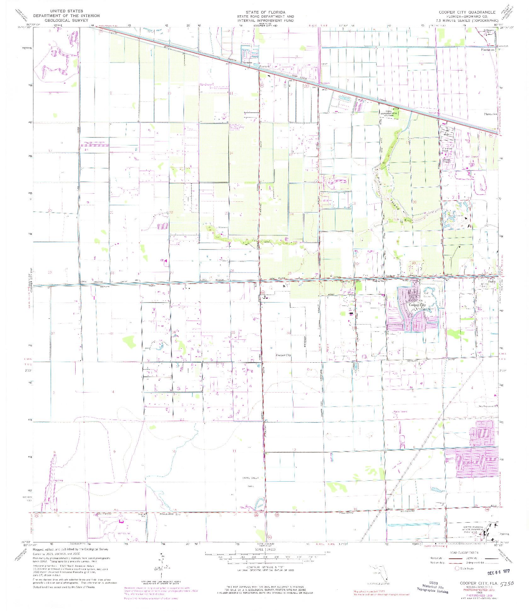 USGS 1:24000-SCALE QUADRANGLE FOR COOPER CITY, FL 1963