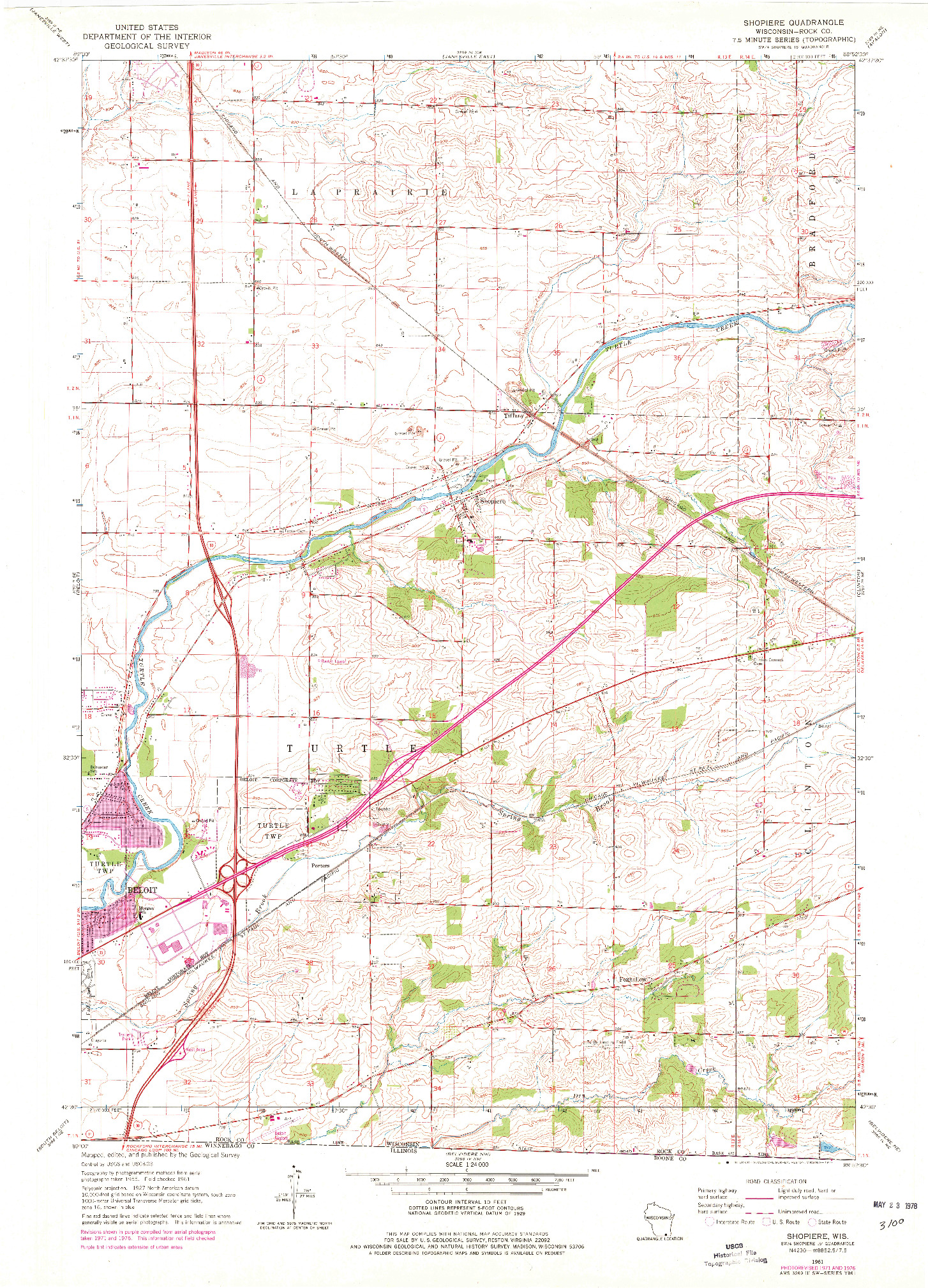USGS 1:24000-SCALE QUADRANGLE FOR SHOPIERE, WI 1961