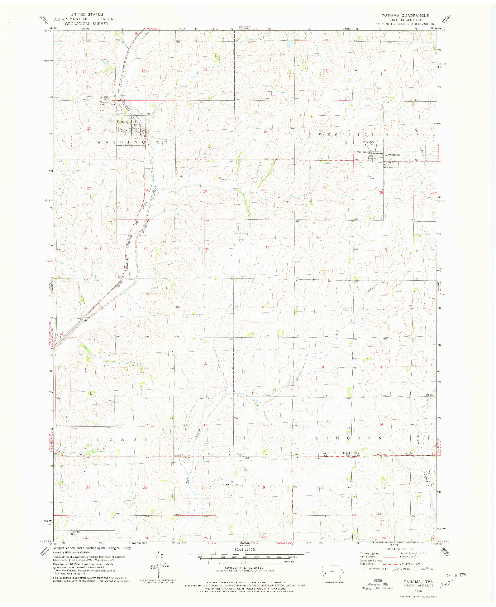USGS 1:24000-SCALE QUADRANGLE FOR PANAMA, IA 1978