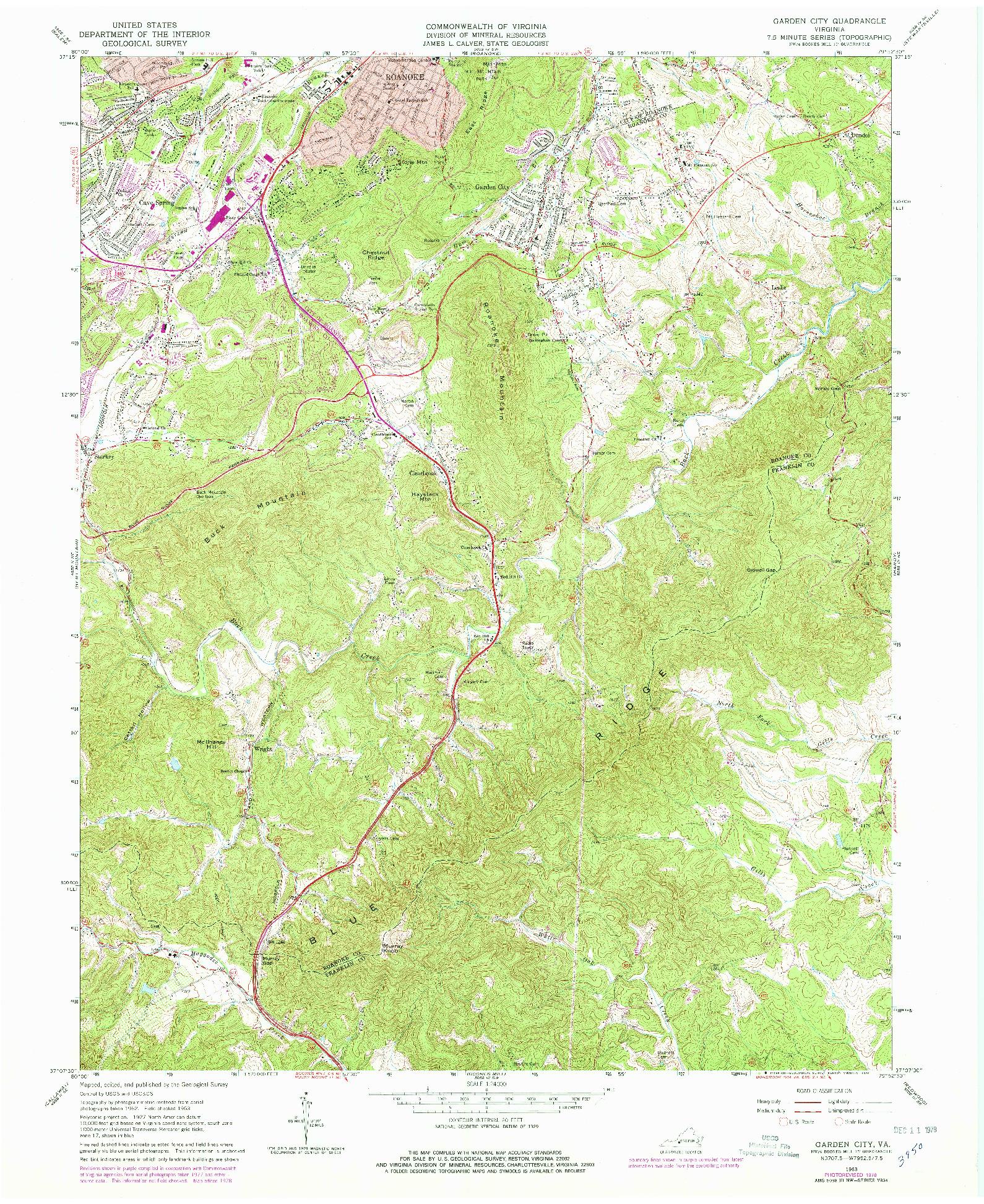 USGS 1:24000-SCALE QUADRANGLE FOR GARDEN CITY, VA 1963