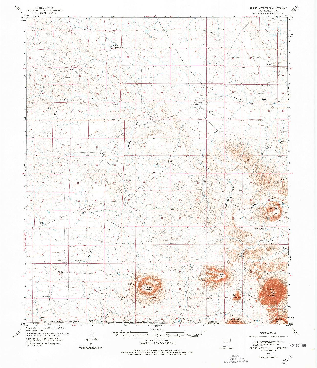 USGS 1:62500-SCALE QUADRANGLE FOR ALAMO MOUNTAIN, NM 1959