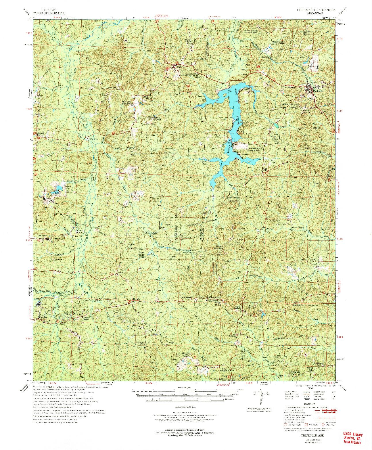 USGS 1:62500-SCALE QUADRANGLE FOR CHIDESTER, AR 1978