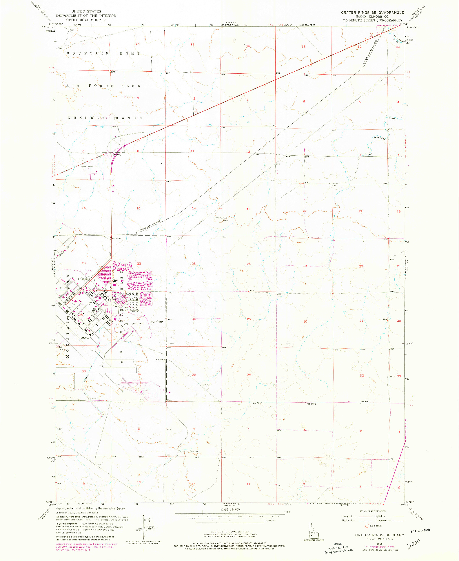 USGS 1:24000-SCALE QUADRANGLE FOR CRATER RINGS SE, ID 1956
