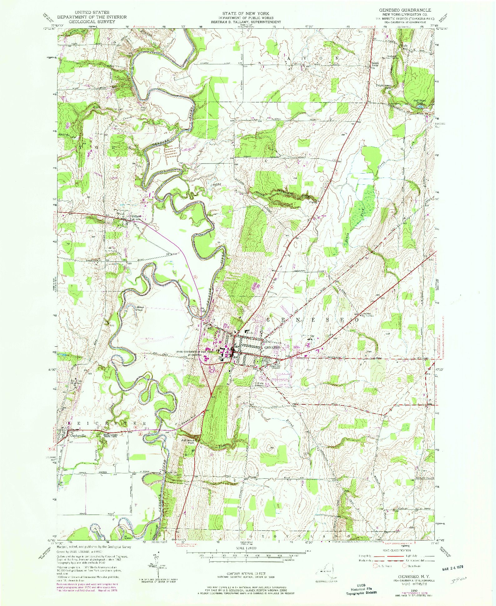USGS 1:24000-SCALE QUADRANGLE FOR GENESEO, NY 1950 on white city map, ottawa township map, southern cayuga map, gilboa map, princeville map, frewsburg map, mcpherson map, spencerport map, duquoin map, rock island district map, montour falls map, gananda map, livonia map, grove map, hesston map, groveland correctional facility map, hammondsport map, fairport map, middlesex map, genesee valley map,