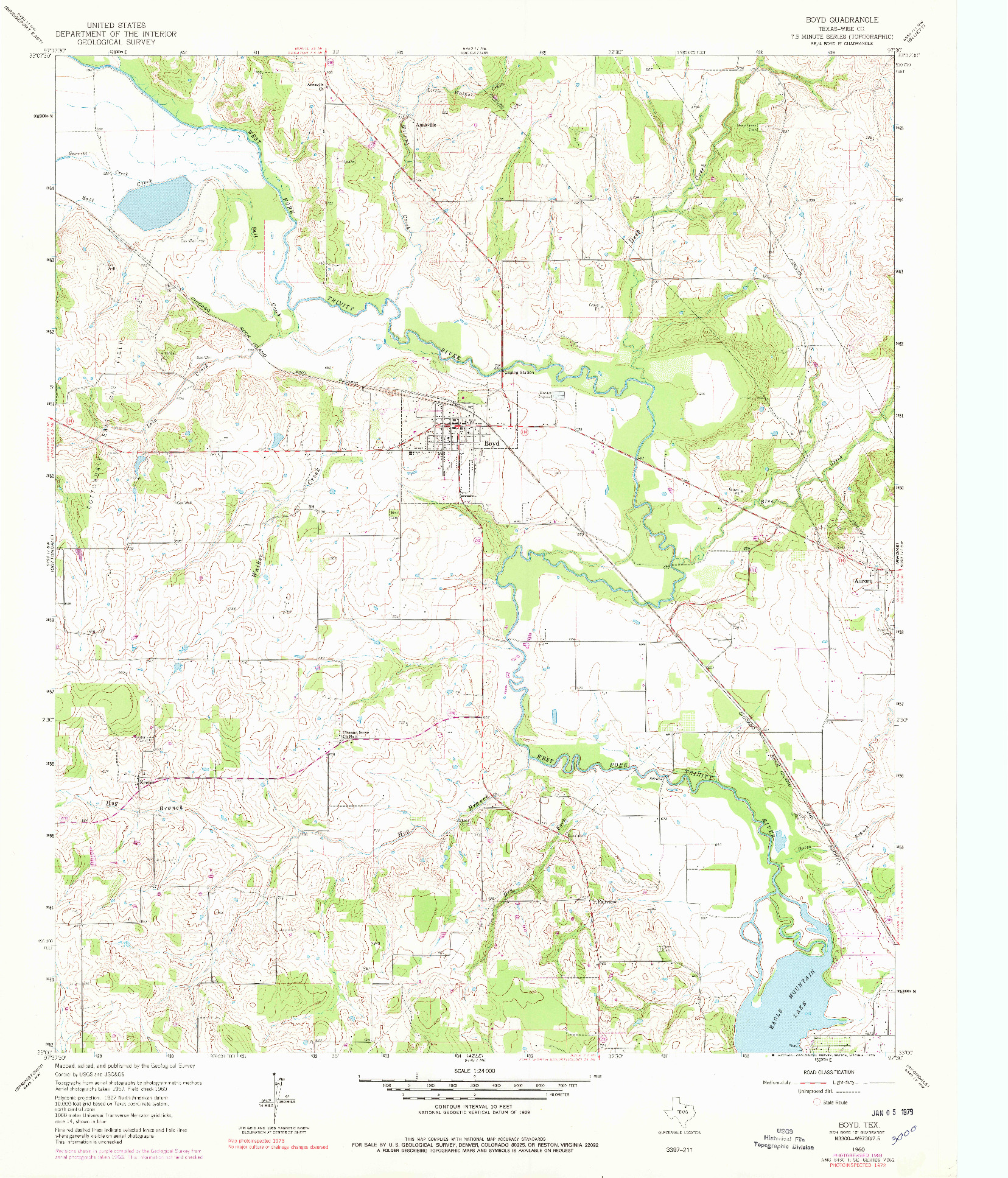 USGS 1:24000-SCALE QUADRANGLE FOR BOYD, TX 1960