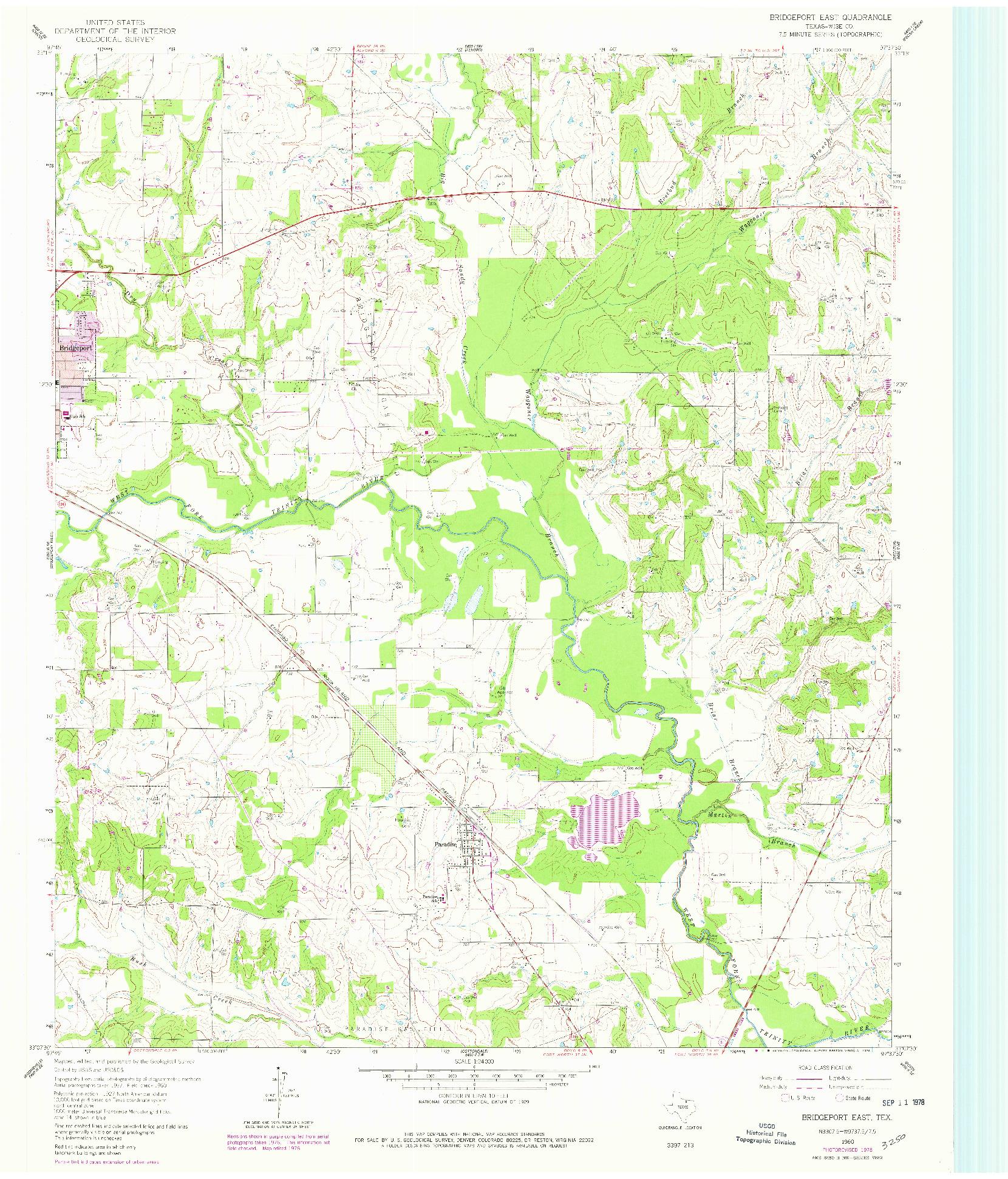 USGS 1:24000-SCALE QUADRANGLE FOR BRIDGEPORT EAST, TX 1960