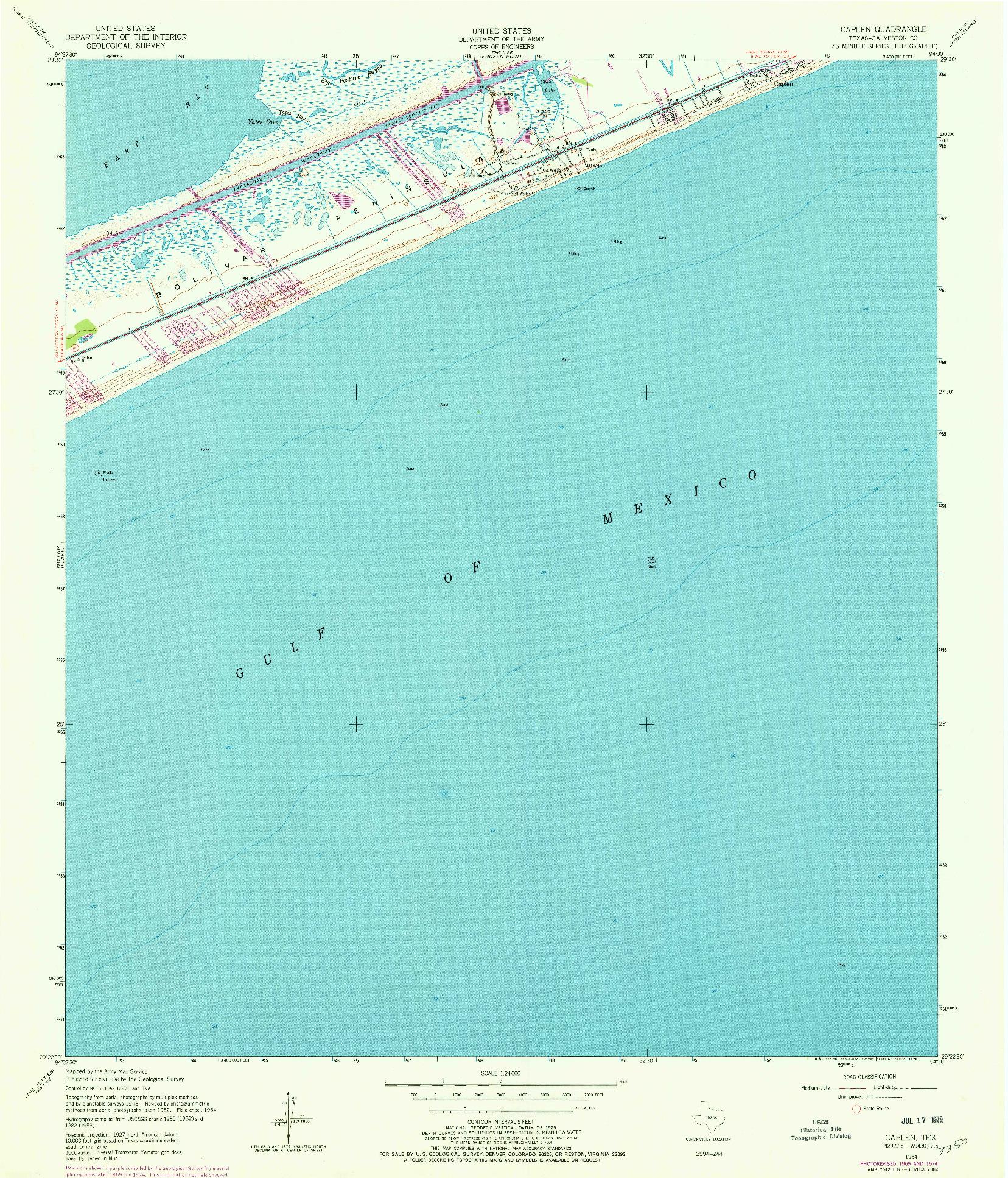 USGS 1:24000-SCALE QUADRANGLE FOR CAPLEN, TX 1954