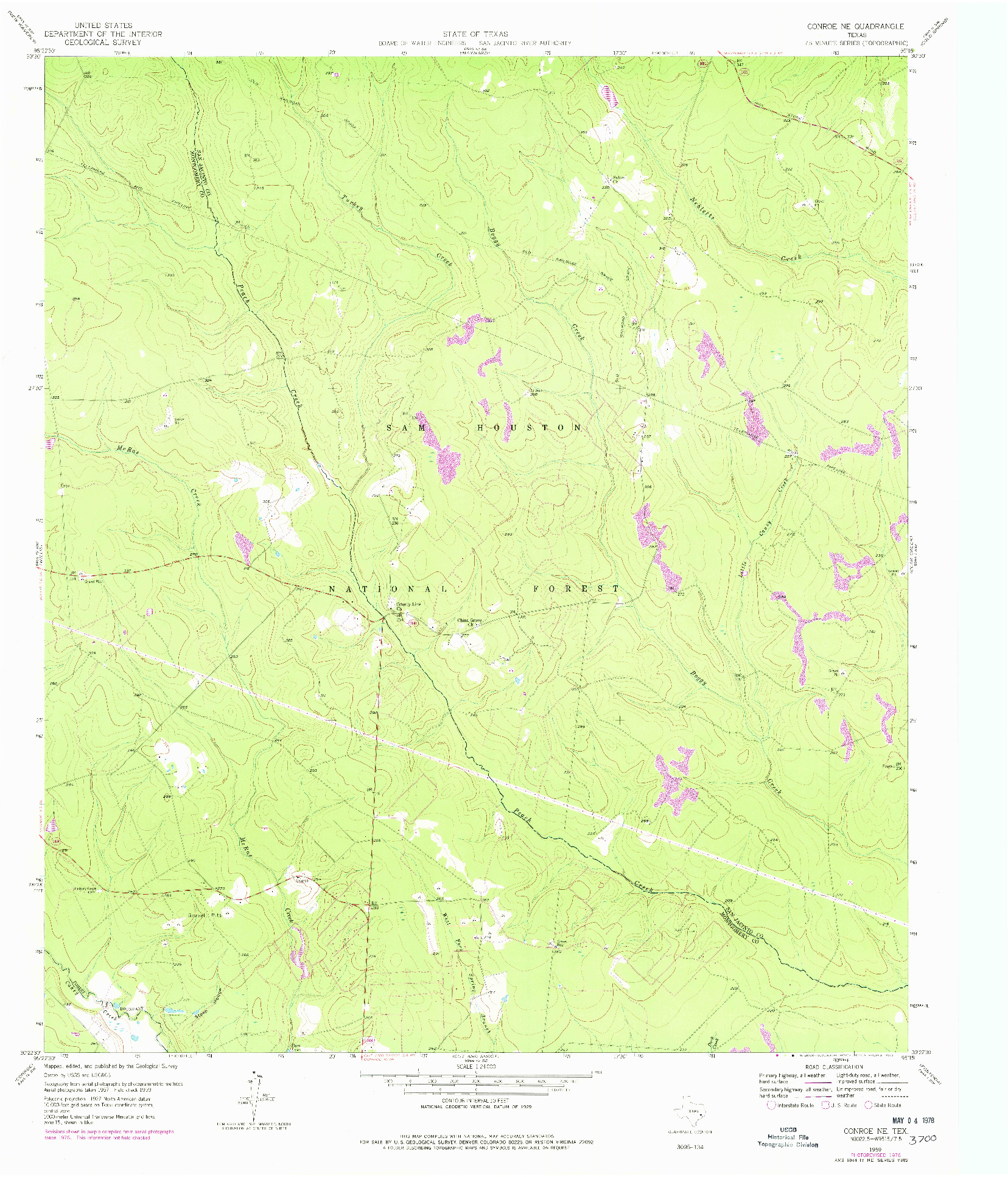 USGS 1:24000-SCALE QUADRANGLE FOR CONROE NE, TX 1959