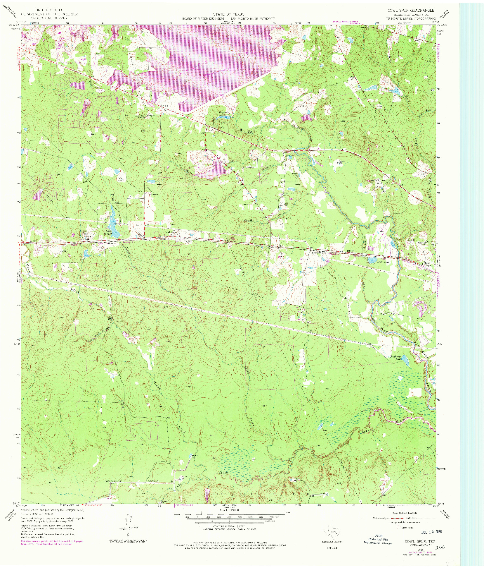 USGS 1:24000-SCALE QUADRANGLE FOR COWL SPUR, TX 1958