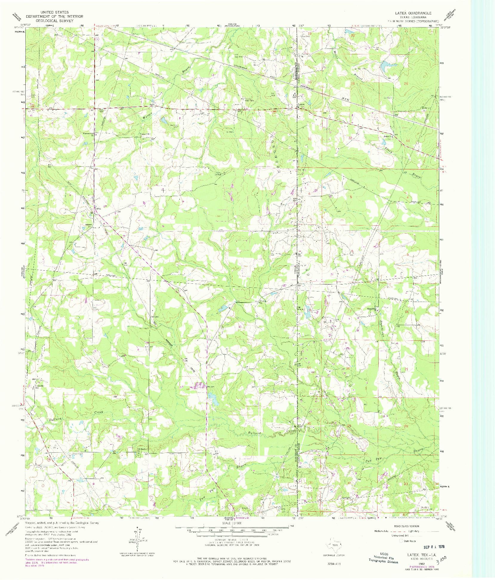 USGS 1:24000-SCALE QUADRANGLE FOR LATEX, TX 1962