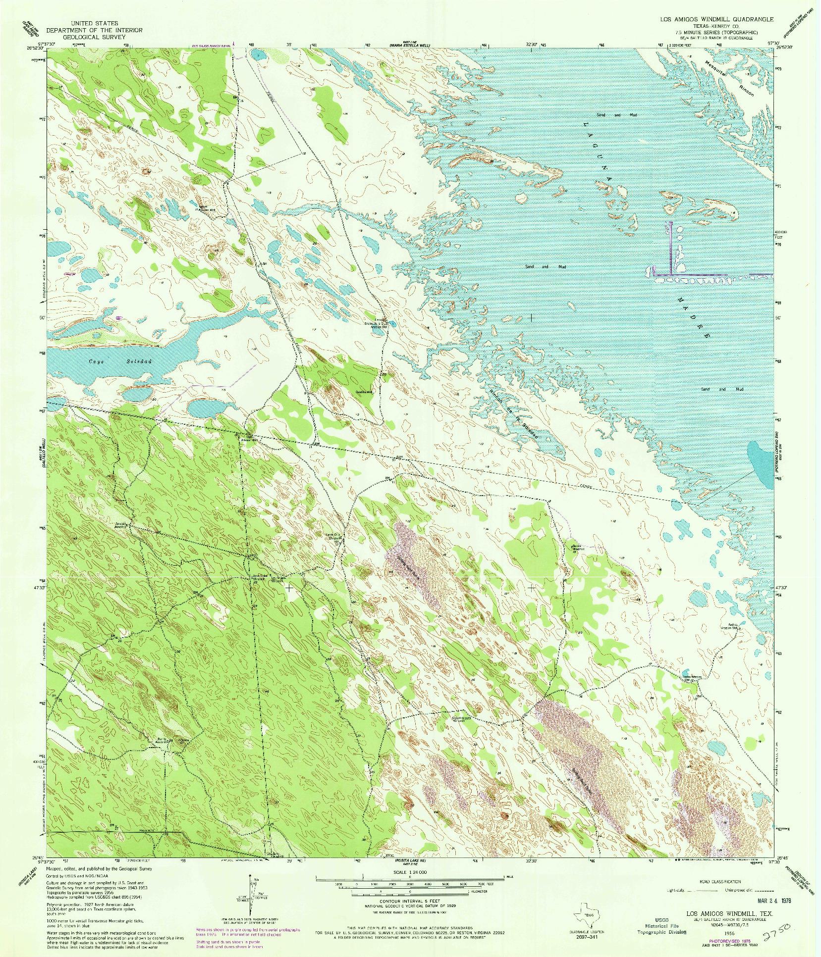 USGS 1:24000-SCALE QUADRANGLE FOR LOS AMIGOS WINDMILL, TX 1956
