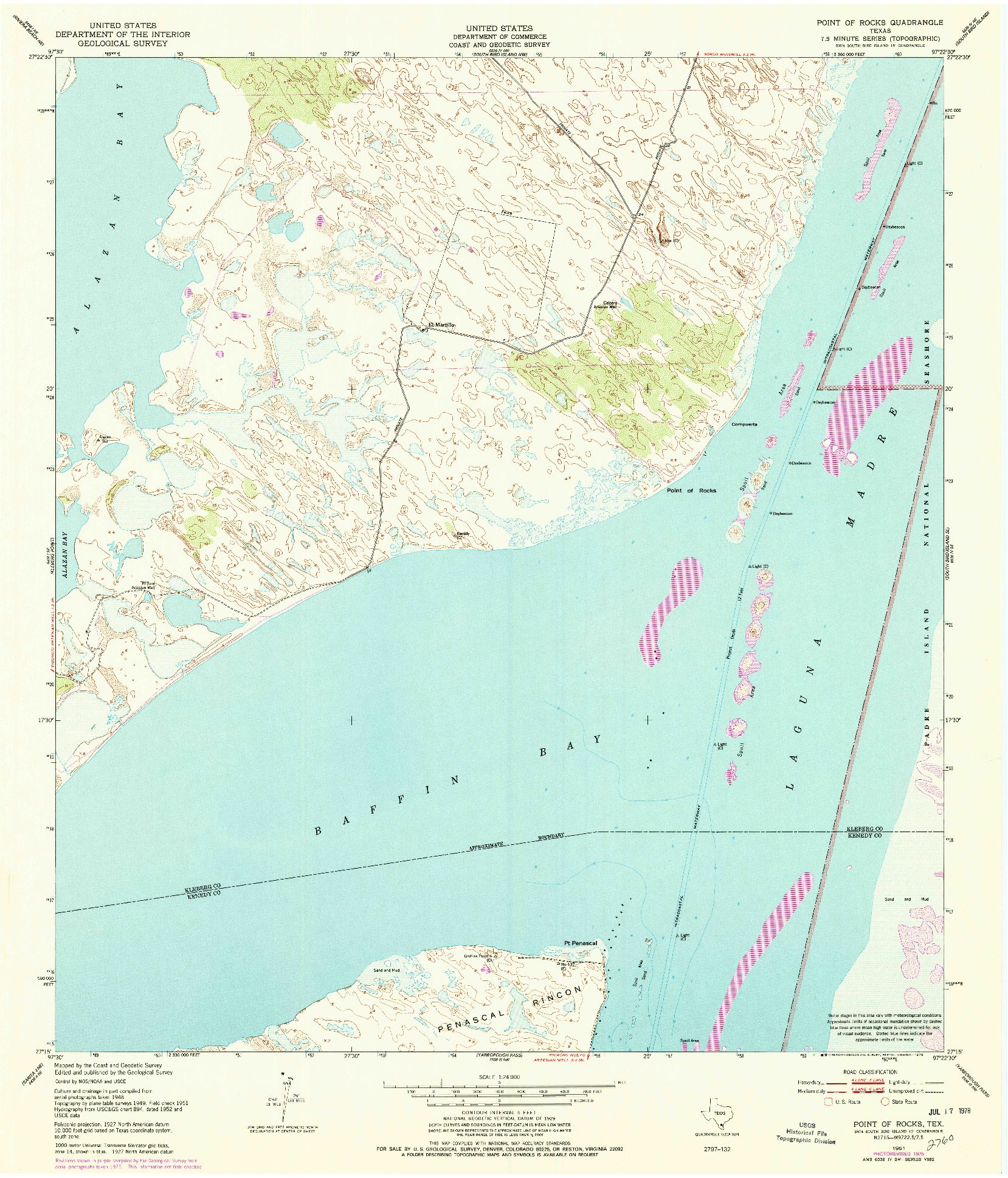 USGS 1:24000-SCALE QUADRANGLE FOR POINT OF ROCKS, TX 1951