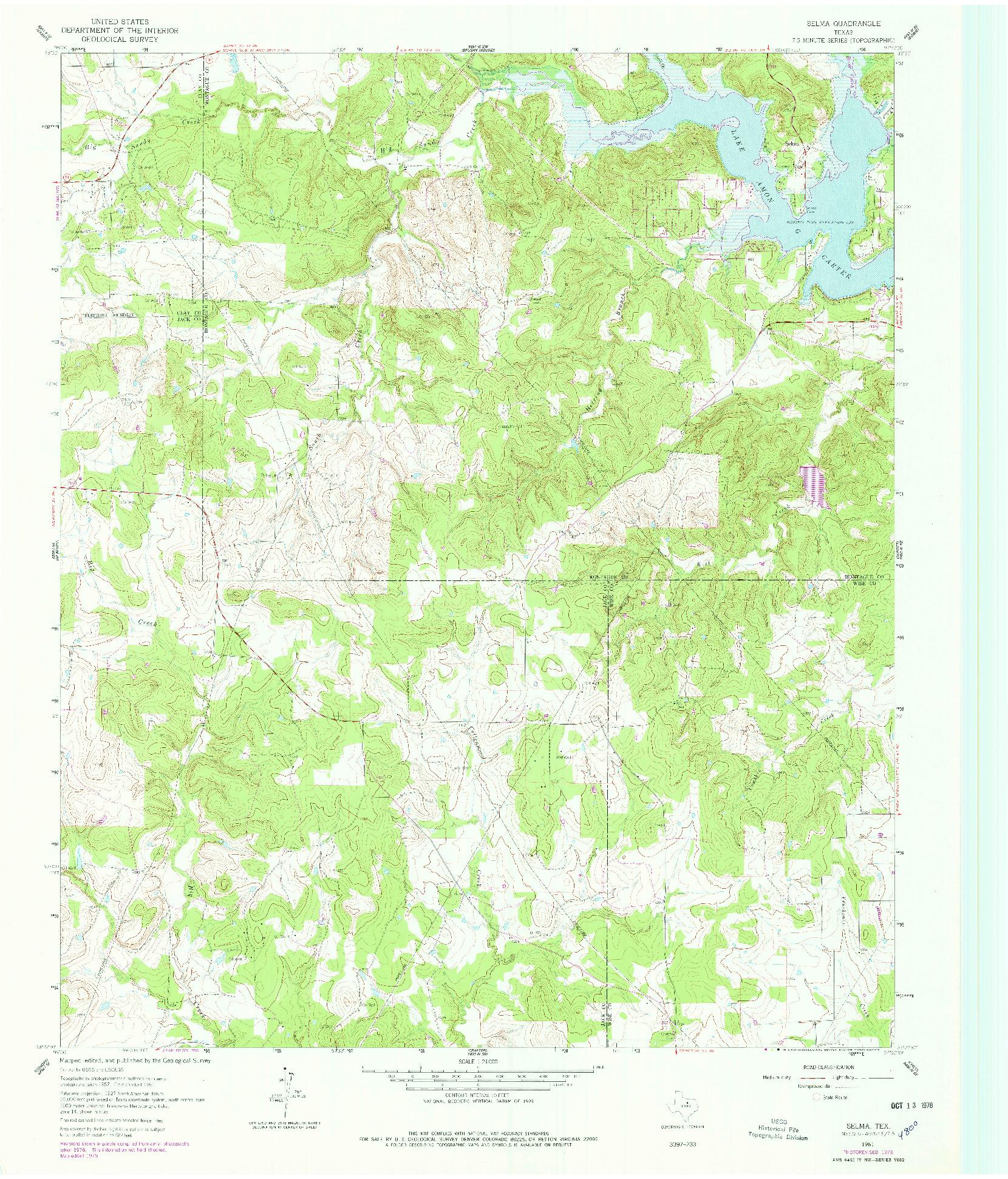 USGS 1:24000-SCALE QUADRANGLE FOR SELMA, TX 1961