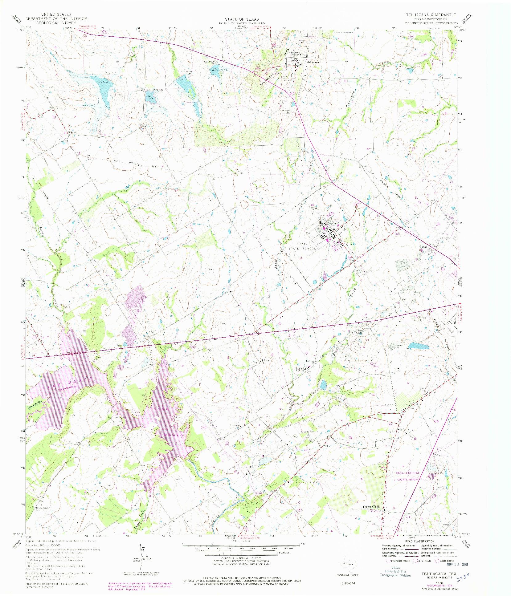 USGS 1:24000-SCALE QUADRANGLE FOR TEHUACANA, TX 1960