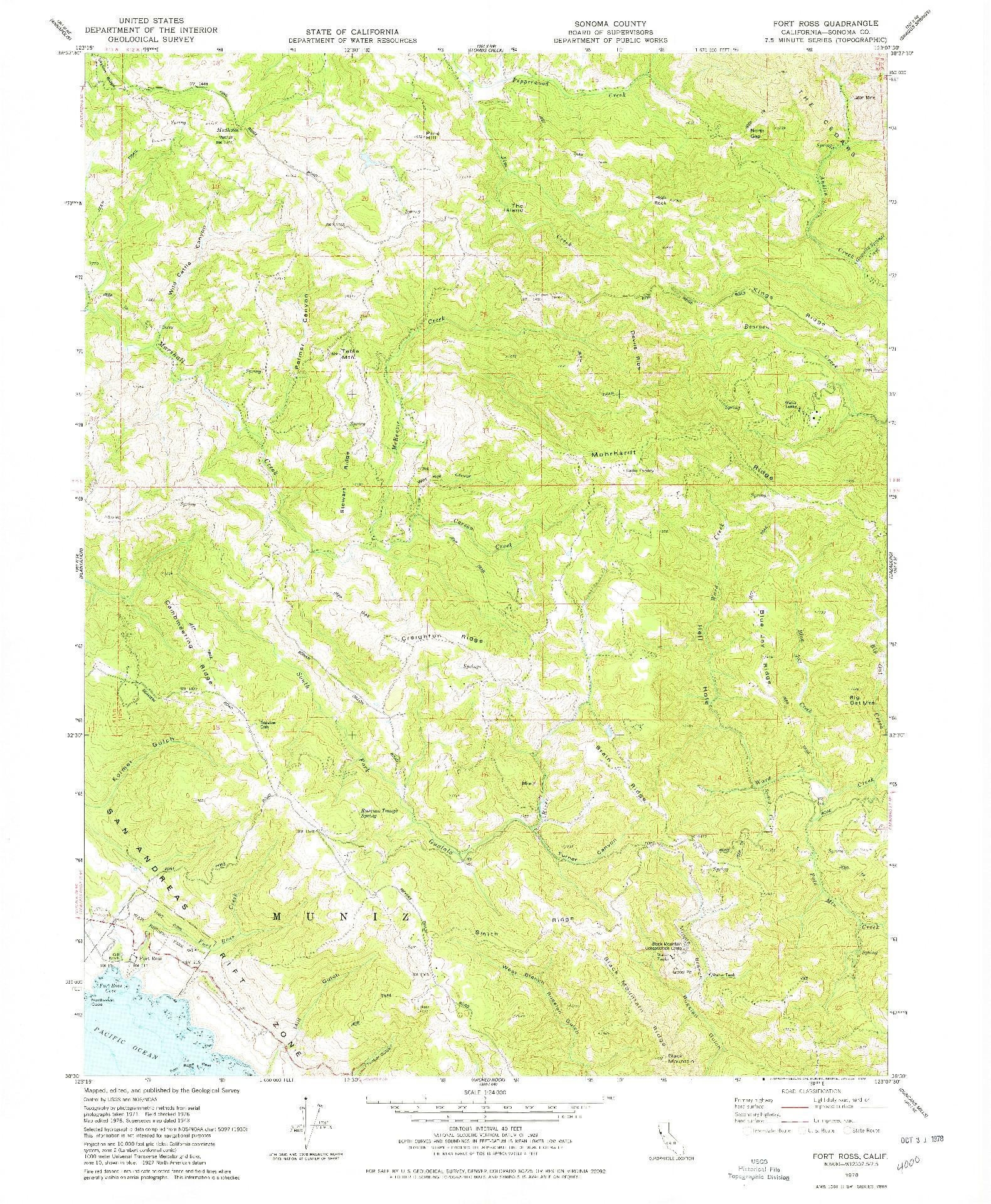 USGS 1:24000-SCALE QUADRANGLE FOR FORT ROSS, CA 1978