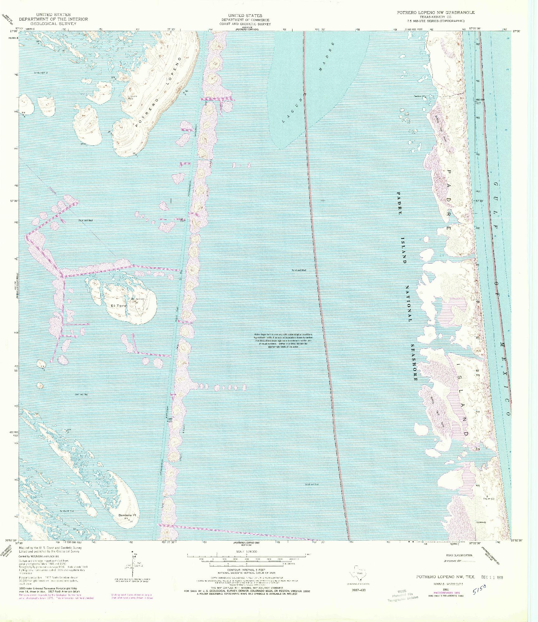 USGS 1:24000-SCALE QUADRANGLE FOR POTRERO LOPENO NW, TX 1951