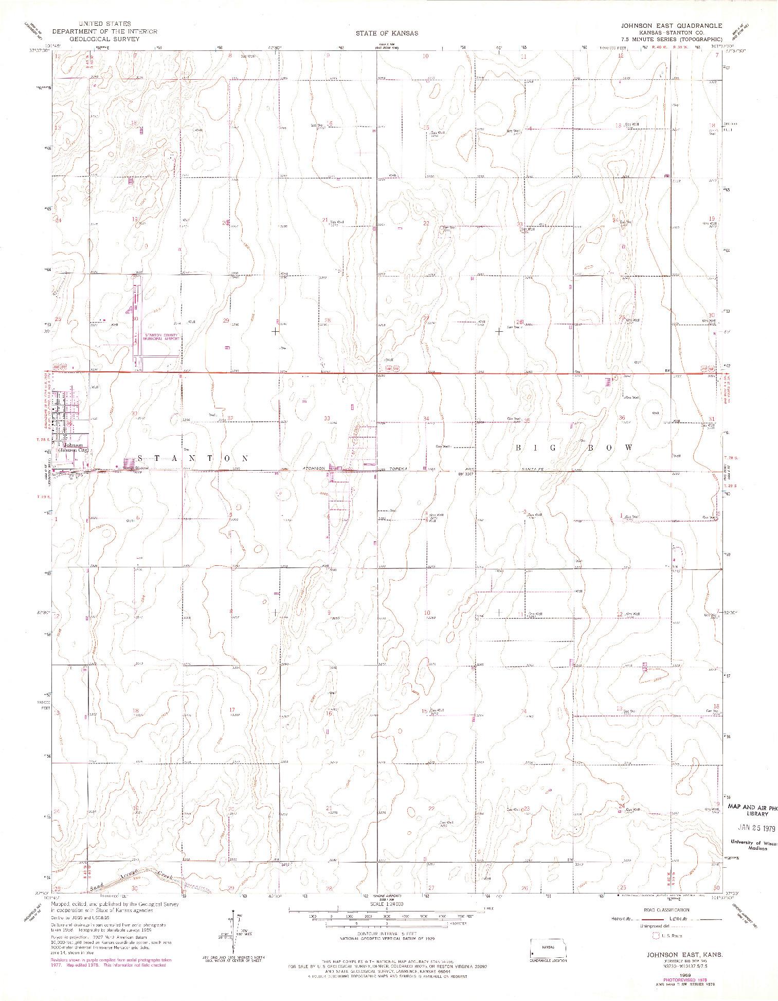 USGS 1:24000-SCALE QUADRANGLE FOR JOHNSON EAST, KS 1959