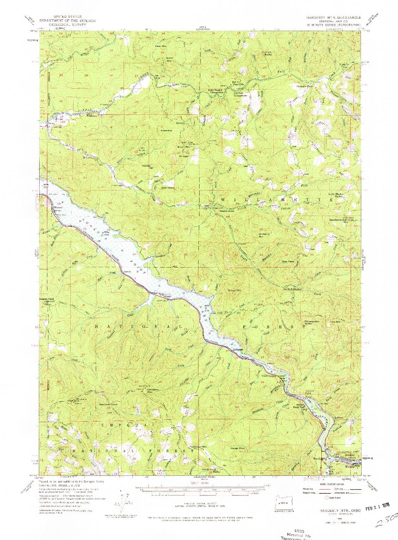 USGS 1:62500-SCALE QUADRANGLE FOR HARDESTY MTN, OR 1955