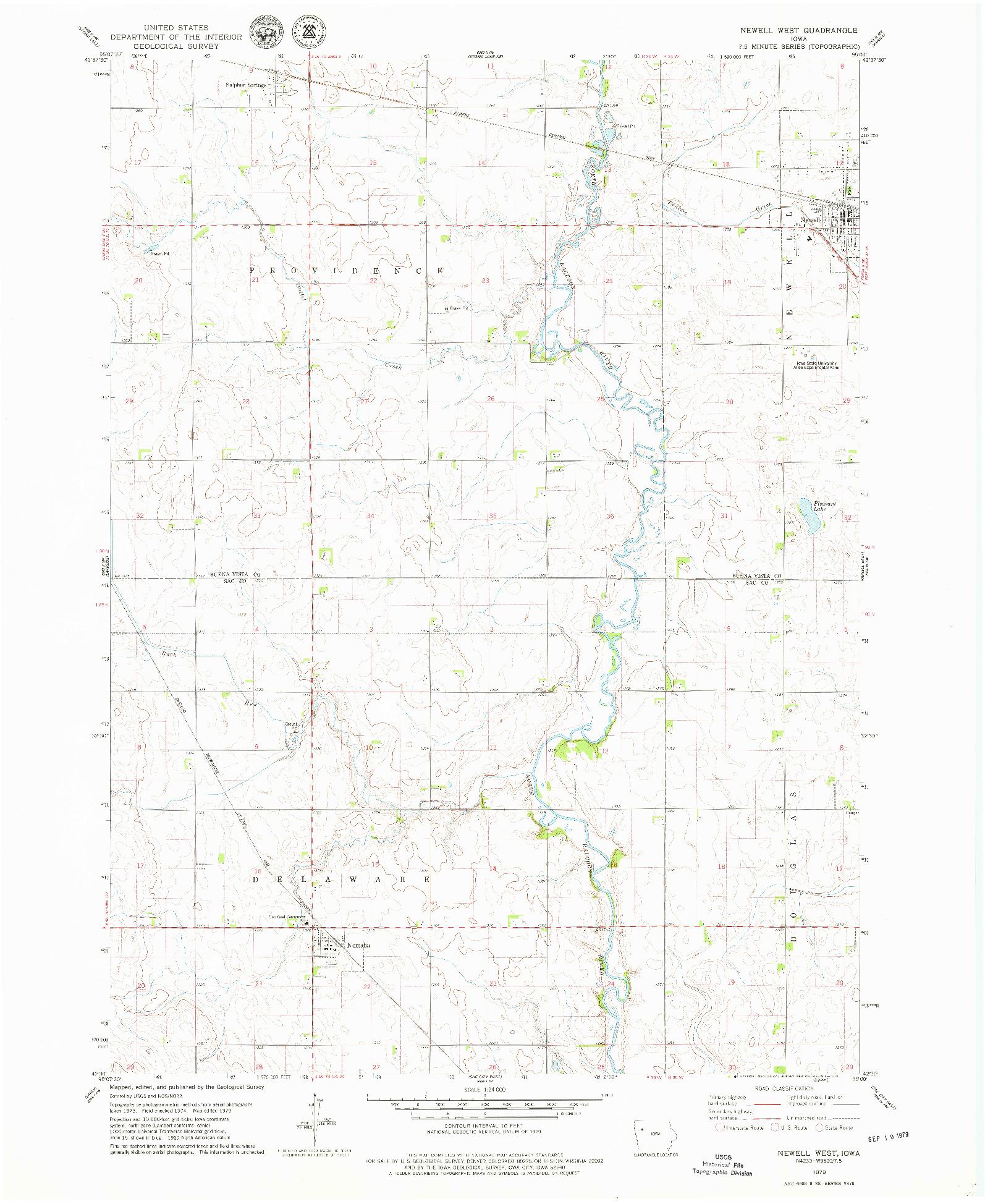 USGS 1:24000-SCALE QUADRANGLE FOR NEWELL WEST, IA 1979