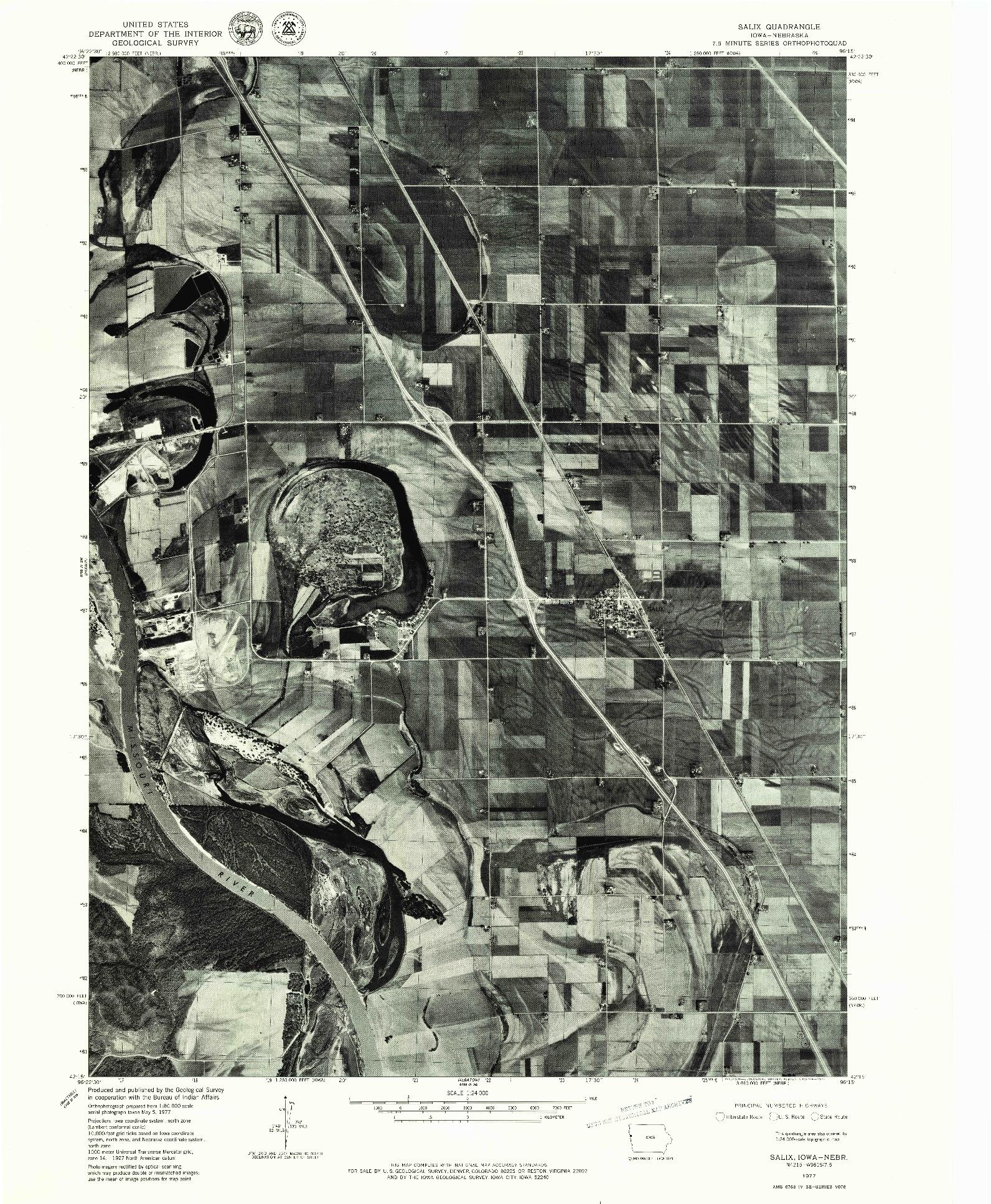 USGS 1:24000-SCALE QUADRANGLE FOR SALIX, IA 1977