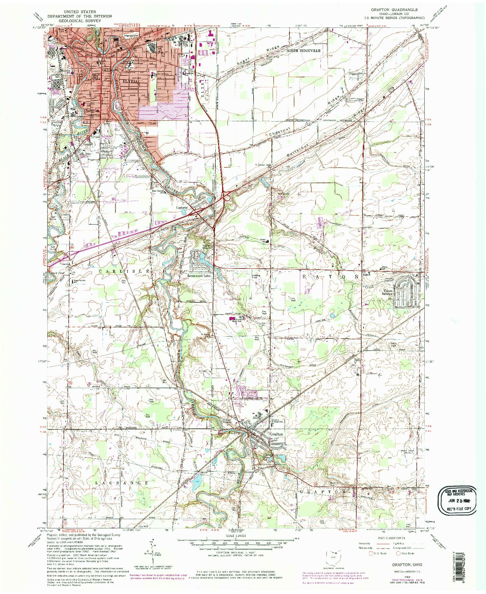 USGS 1:24000-SCALE QUADRANGLE FOR GRAFTON, OH 1963