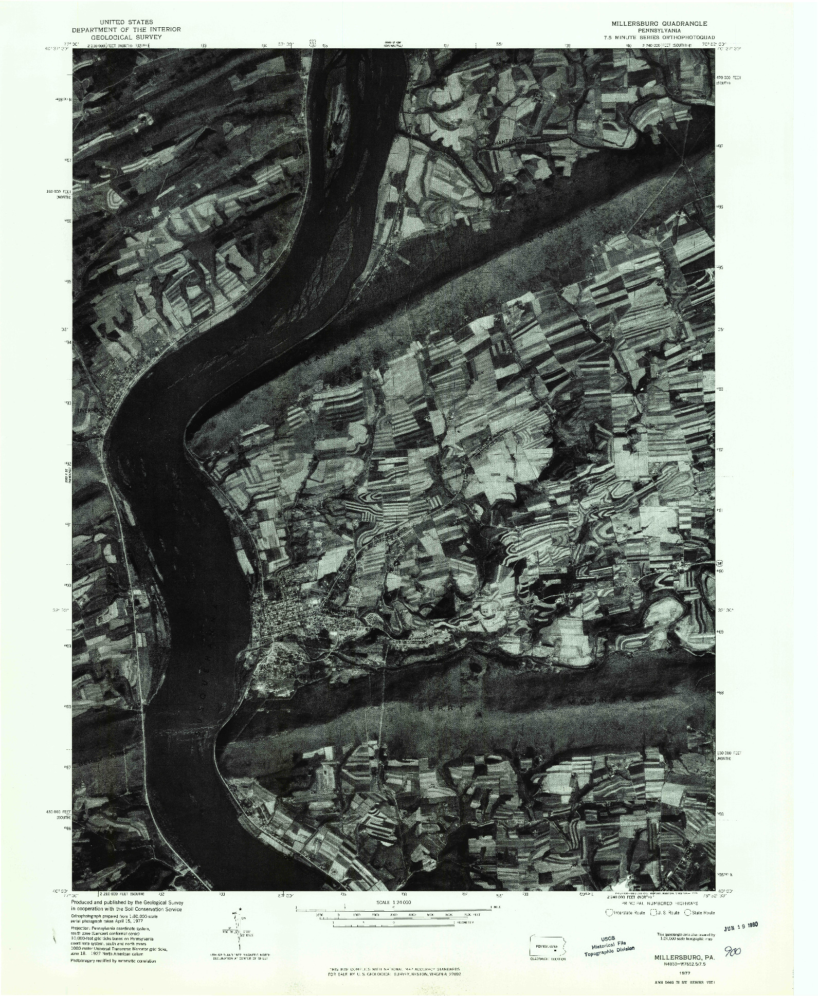 USGS 1:24000-SCALE QUADRANGLE FOR MILLERSBURG, PA 1977