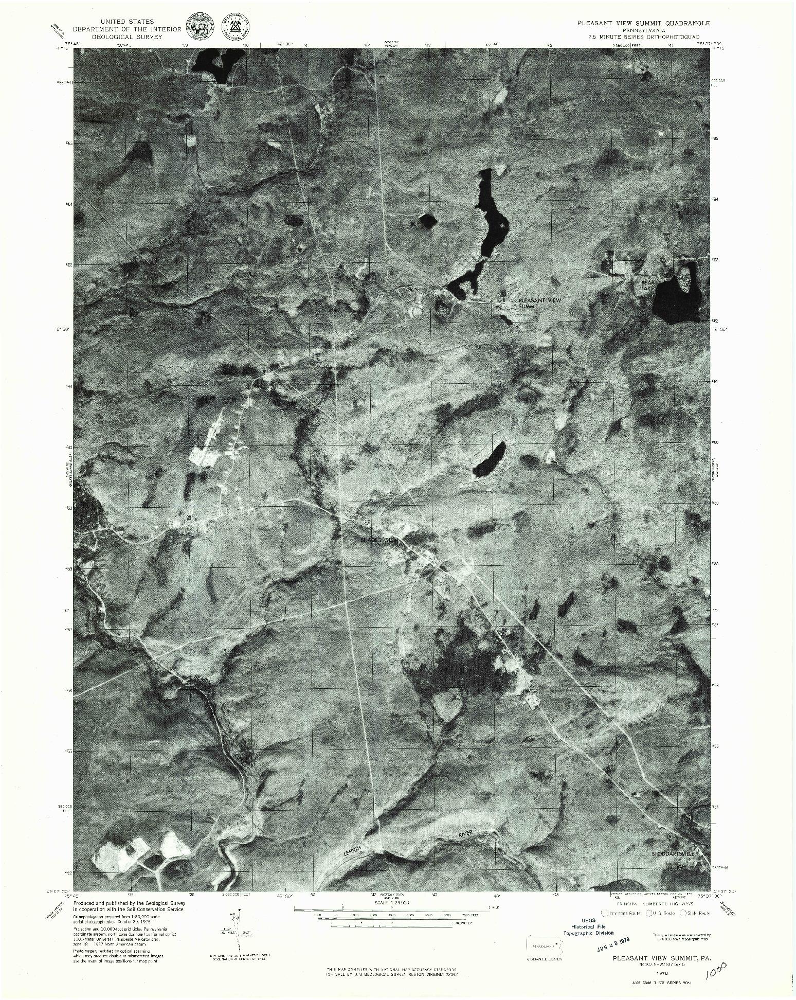 USGS 1:24000-SCALE QUADRANGLE FOR PLEASANT VIEW SUMMIT, PA 1976