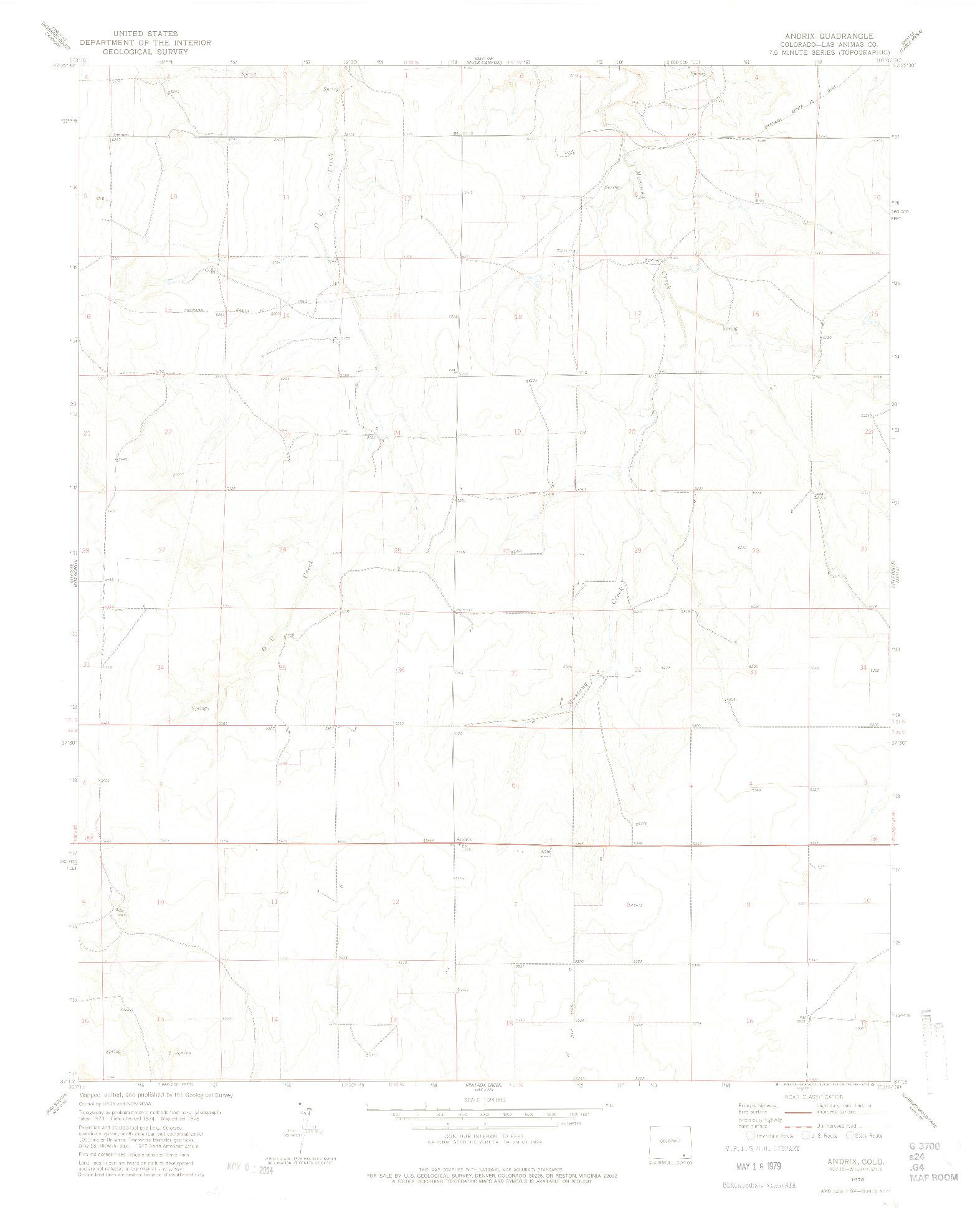 USGS 1:24000-SCALE QUADRANGLE FOR ANDRIX, CO 1978
