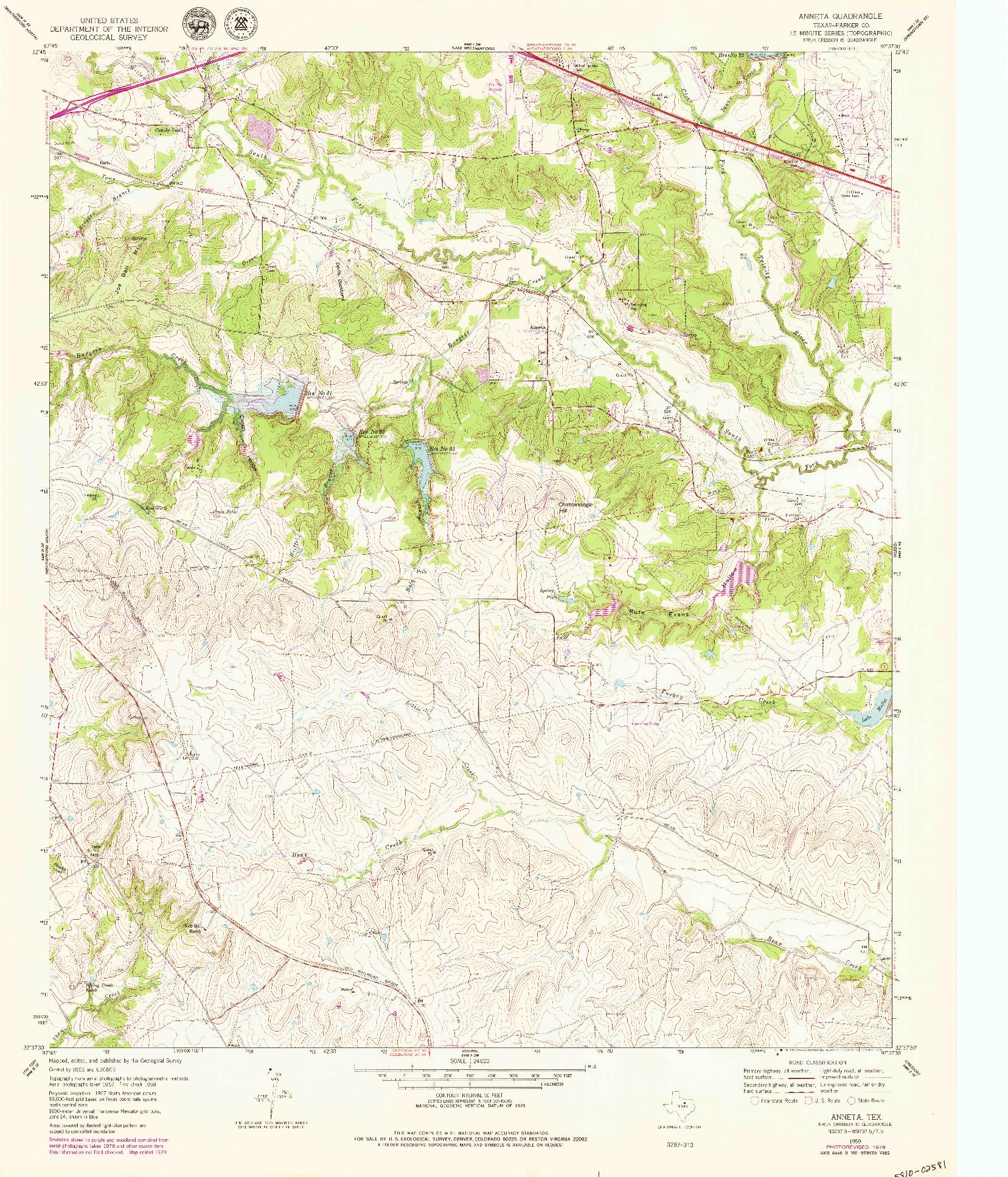USGS 1:24000-SCALE QUADRANGLE FOR ANNETA, TX 1959