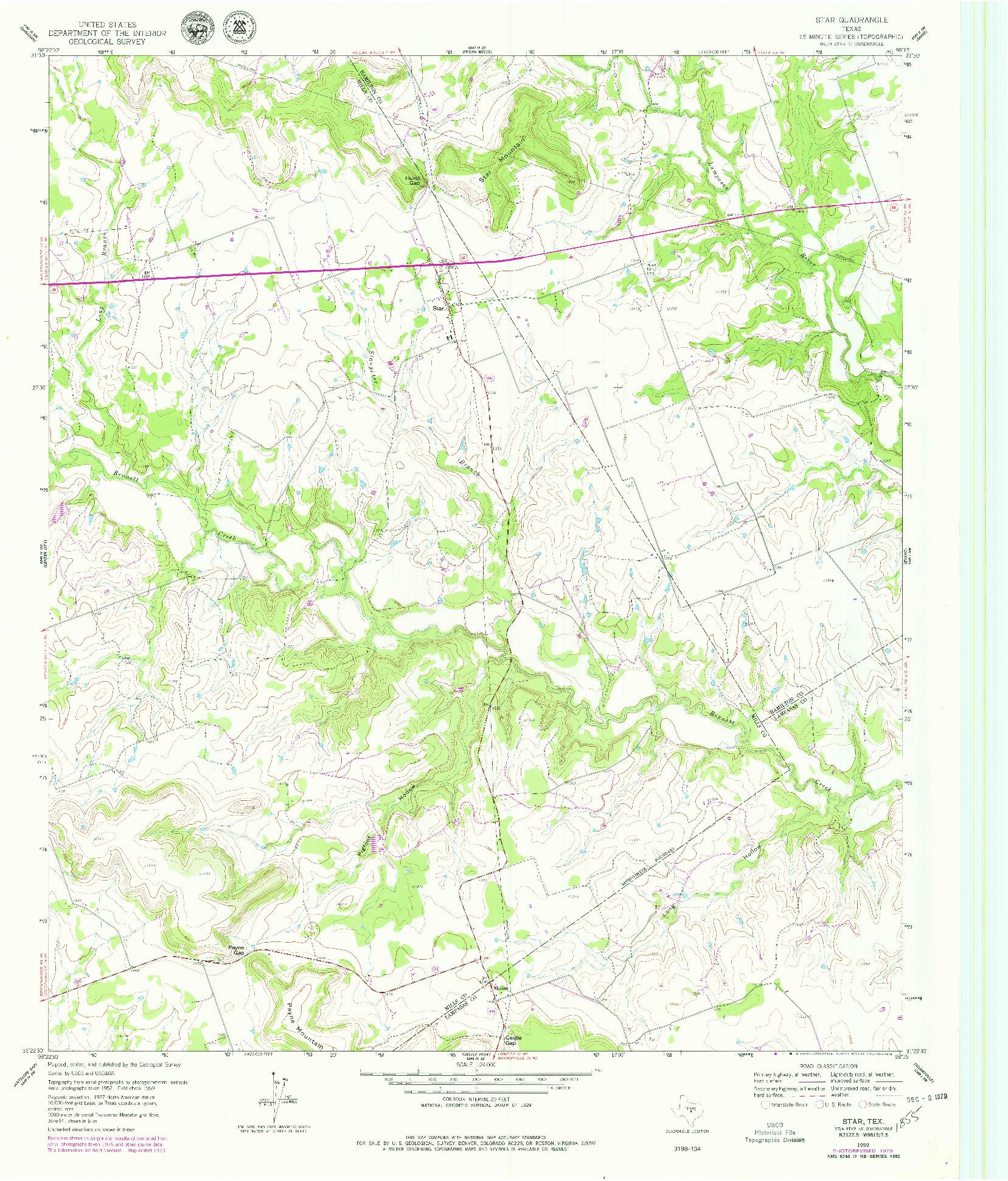 USGS 1:24000-SCALE QUADRANGLE FOR STAR, TX 1959