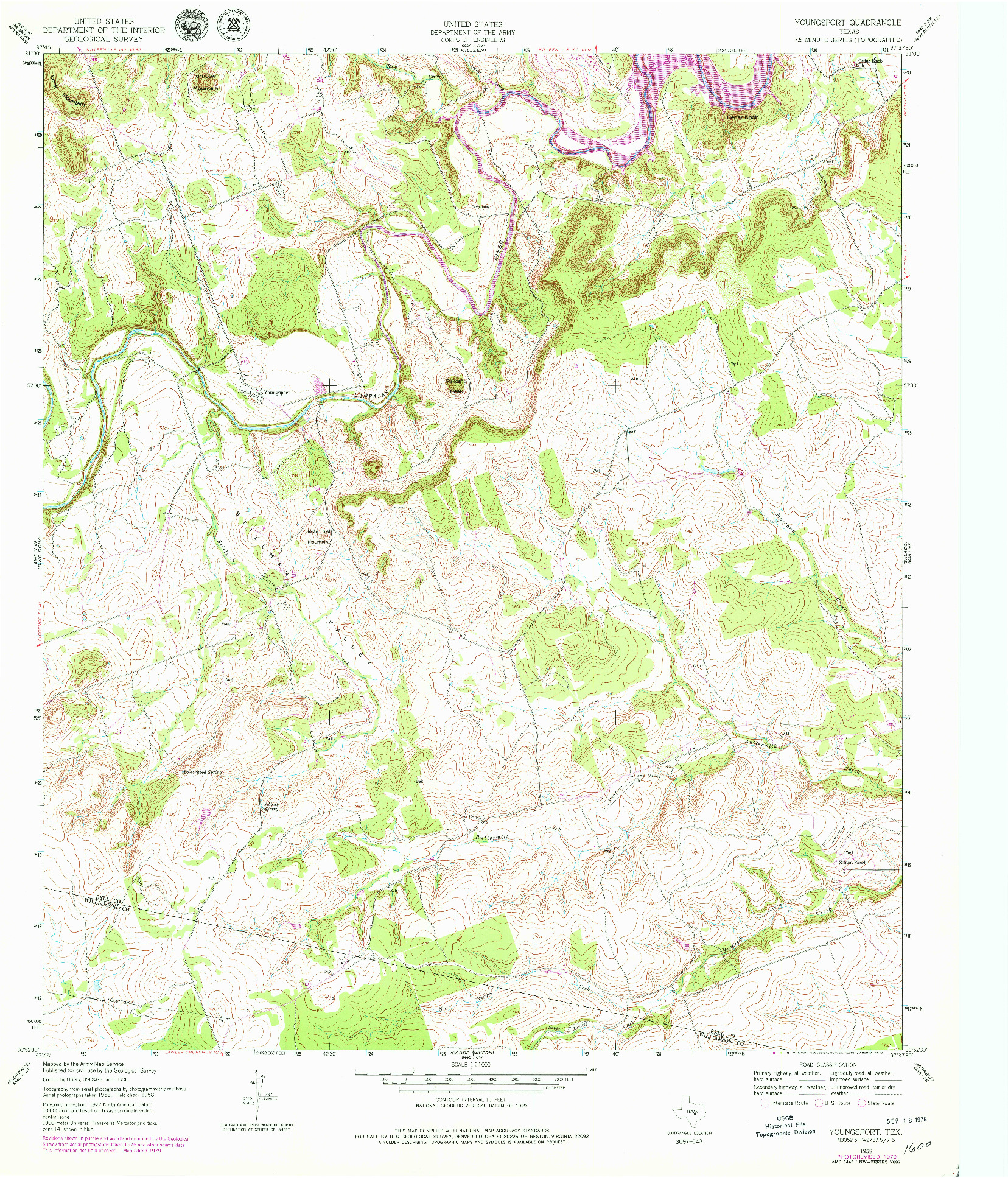 USGS 1:24000-SCALE QUADRANGLE FOR YOUNGSPORT, TX 1958