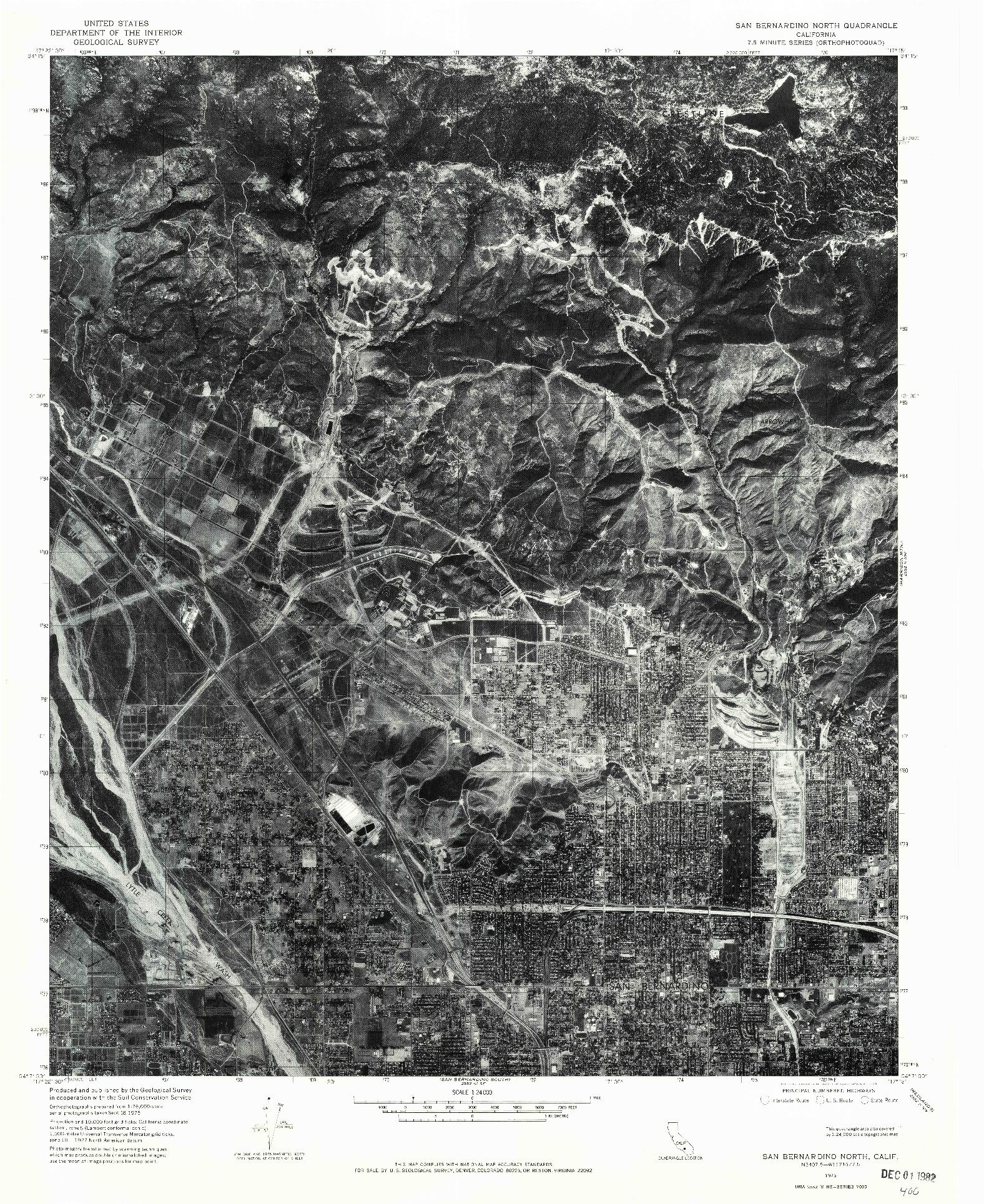 USGS 1:24000-SCALE QUADRANGLE FOR SAN BERNARDINO NORTH, CA 1975