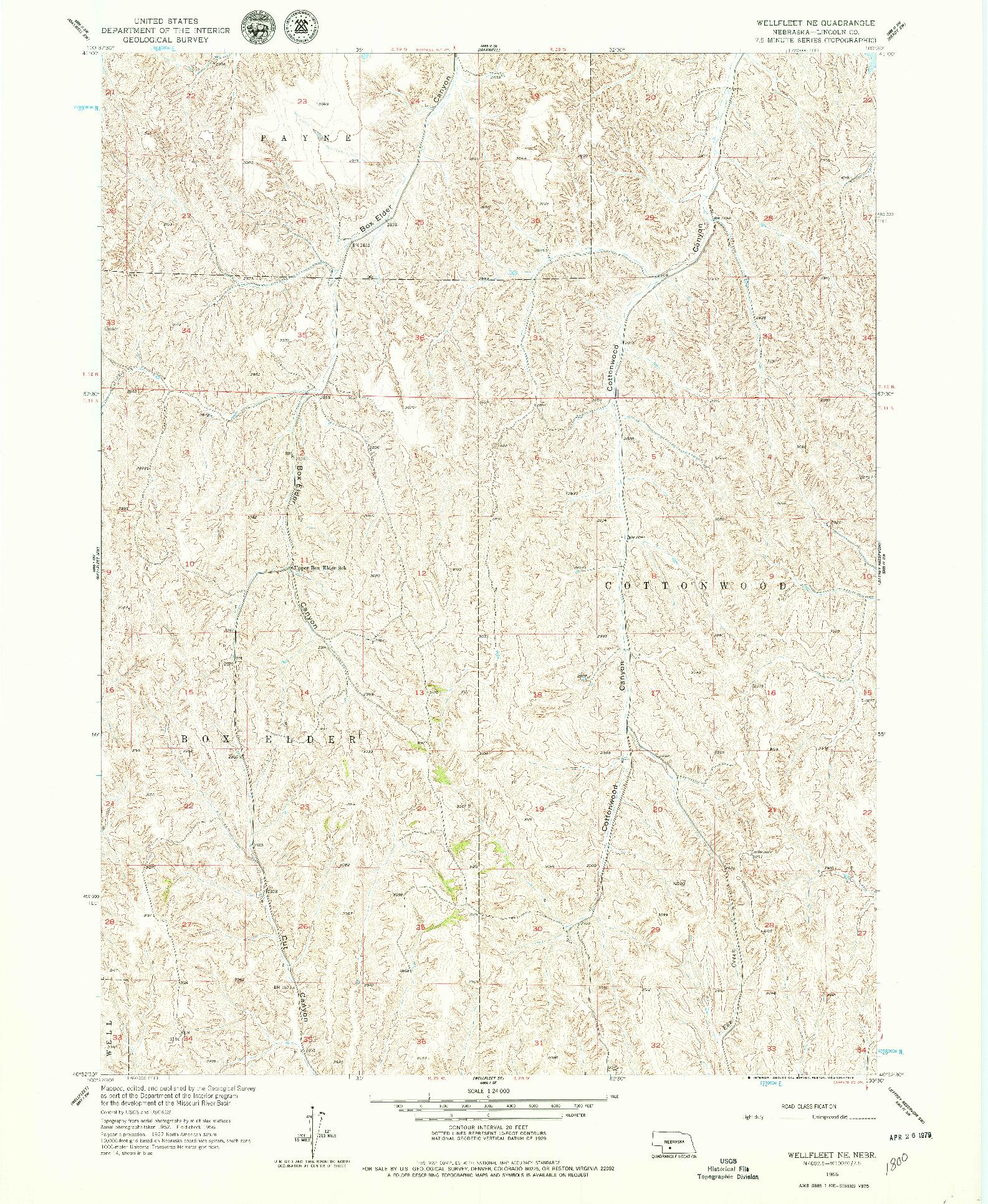 USGS 1:24000-SCALE QUADRANGLE FOR WELLFLEET NE, NE 1956